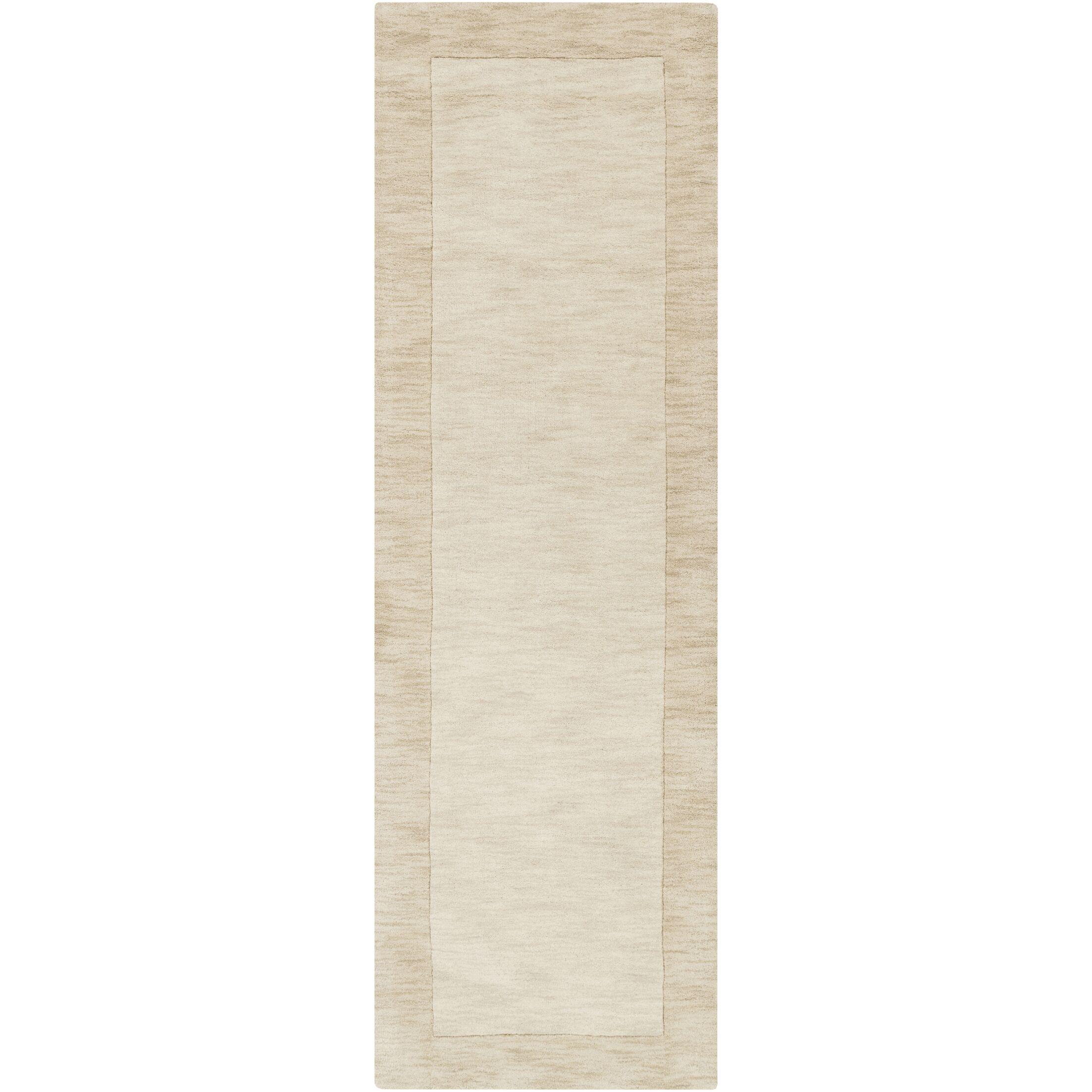 Bradley Hand-Woven Beige Solid Area Rug Rug Size: Runner 2'6