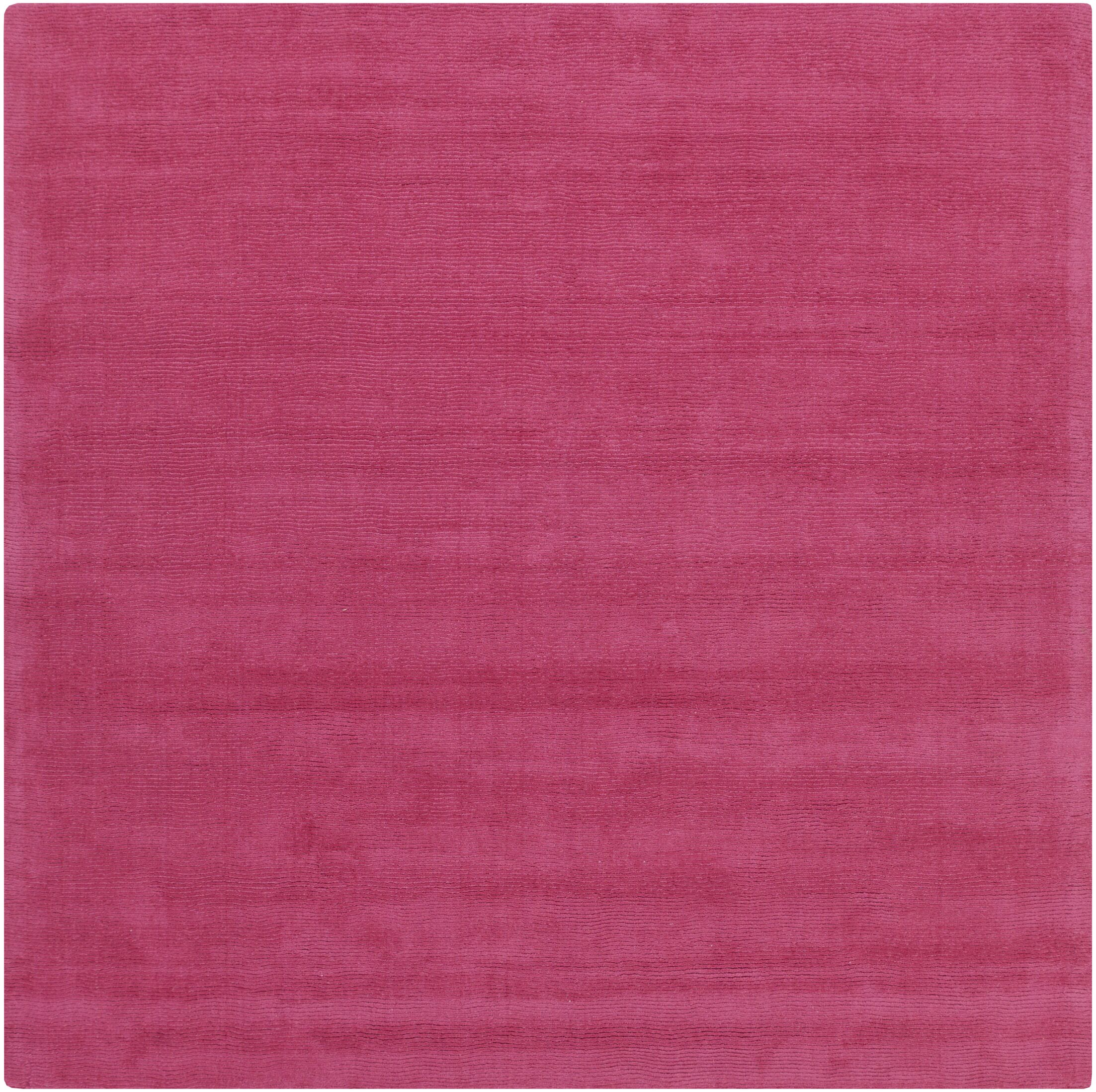 Naples Hand Woven Magenta Area Rug Rug Size: Square 9'9