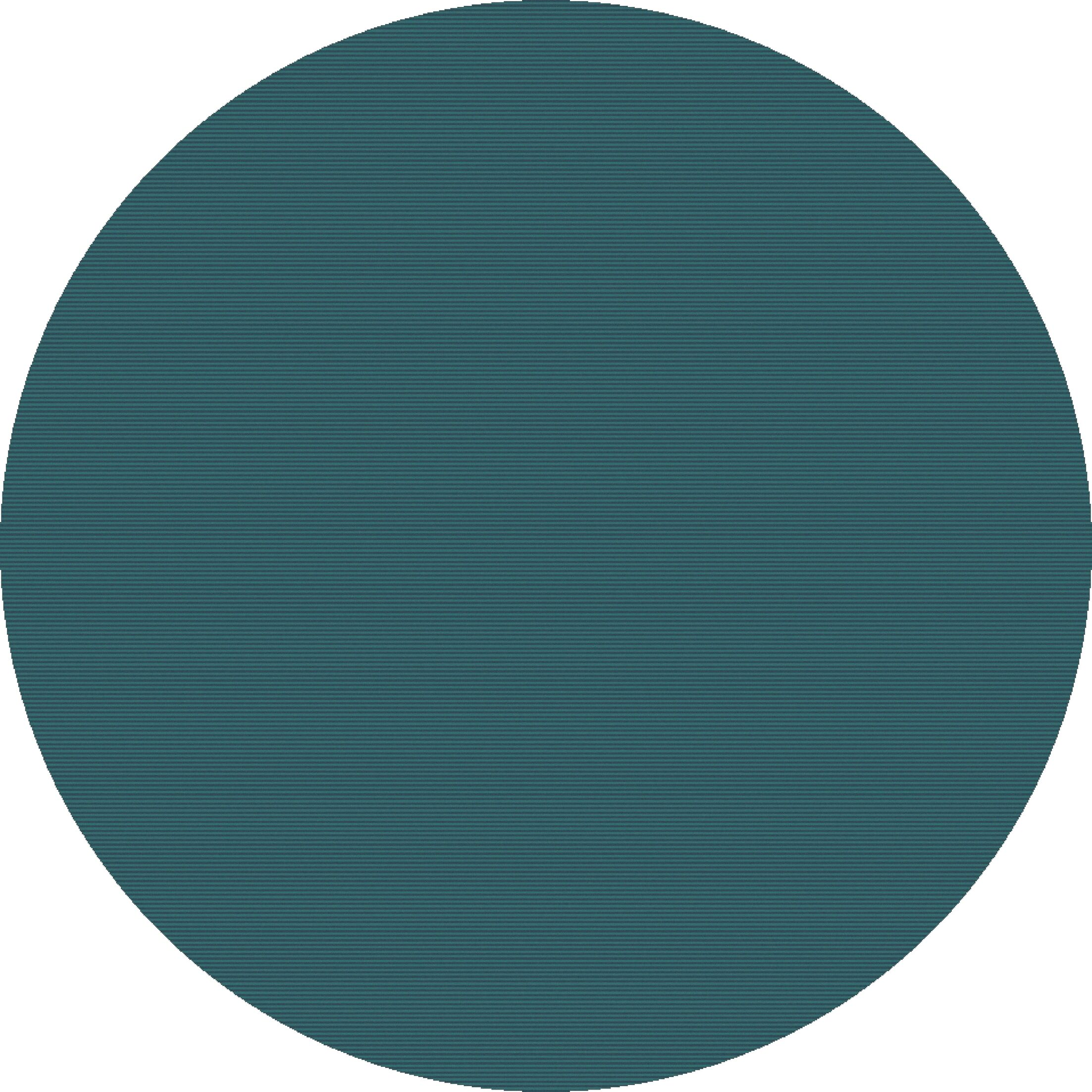 Naples Hand Woven Teal Area Rug Rug Size: Round 8'