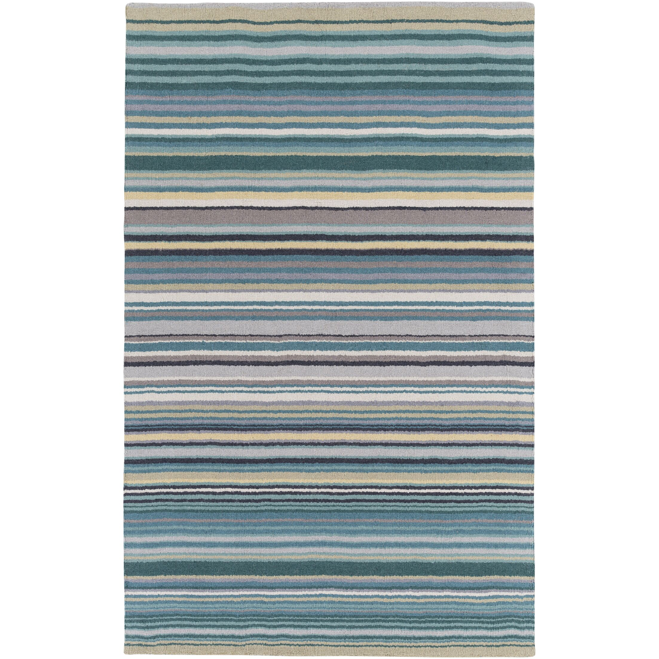 Bradley Stripe Area Rug Rug Size: Rectangle 8' x 11'