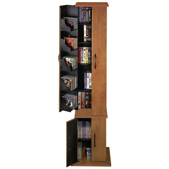CD / DVD Wood Multimedia Cabinet Color: Cherry