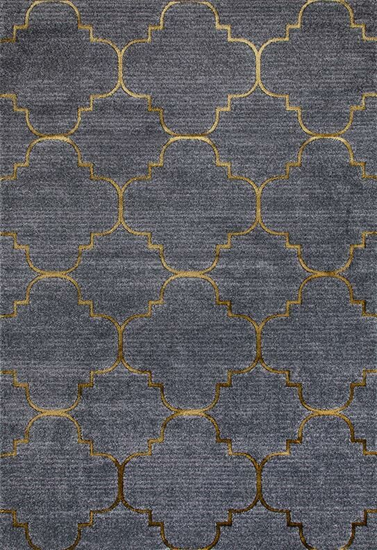 Sweeting Gray/Yellow Indoor/Outdoor Area Rug Rug Size: 8' x 10'