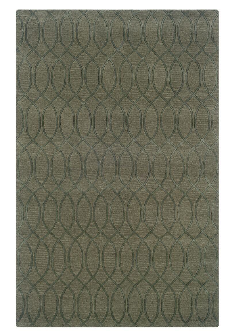 Jaqueline Hand-Tufted Gray Area Rug Rug Size: Rectangle 8' x 11'