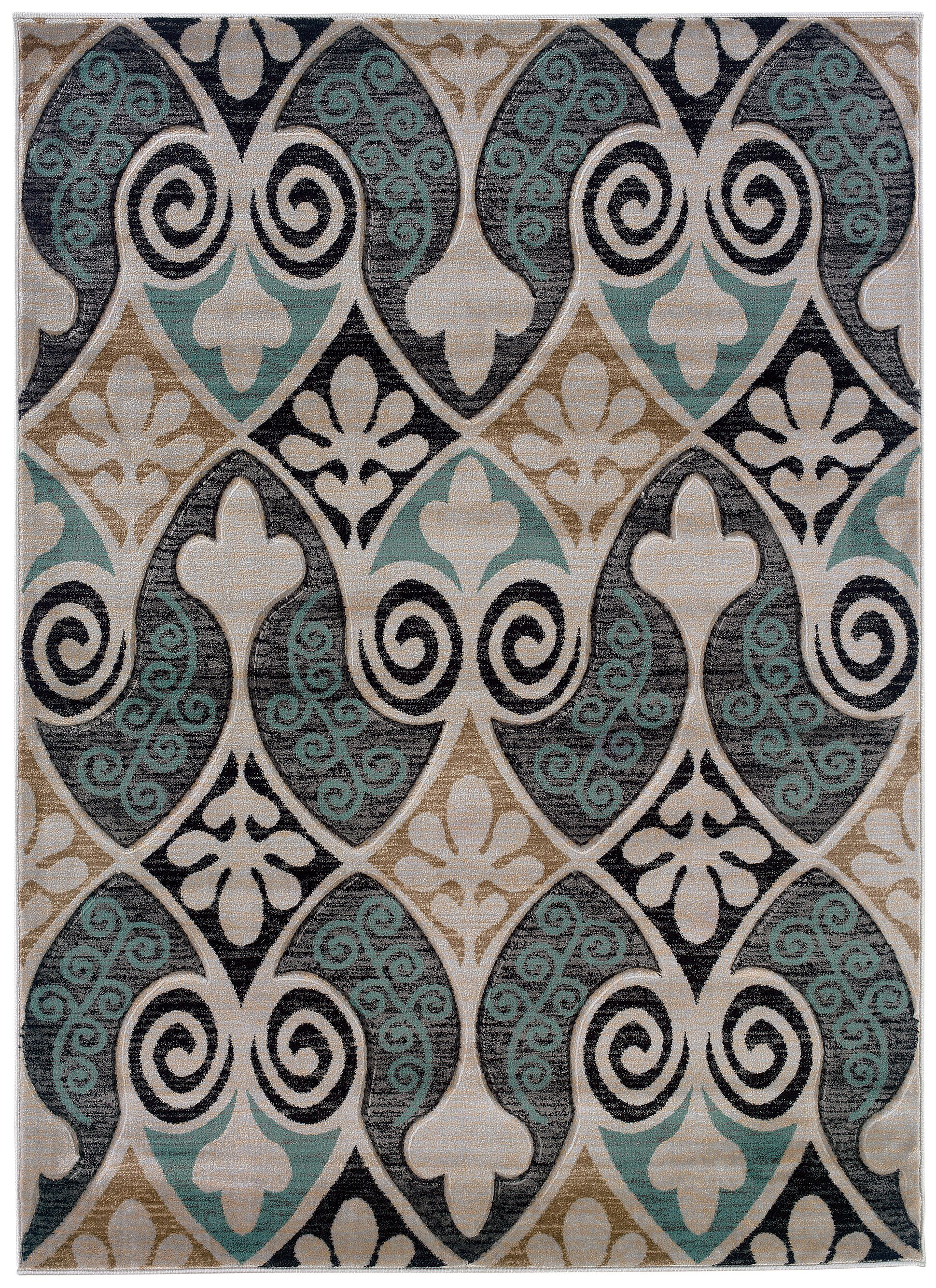 Carlee Ivory Area Rug Rug Size: Rectangle 8' x 10'3