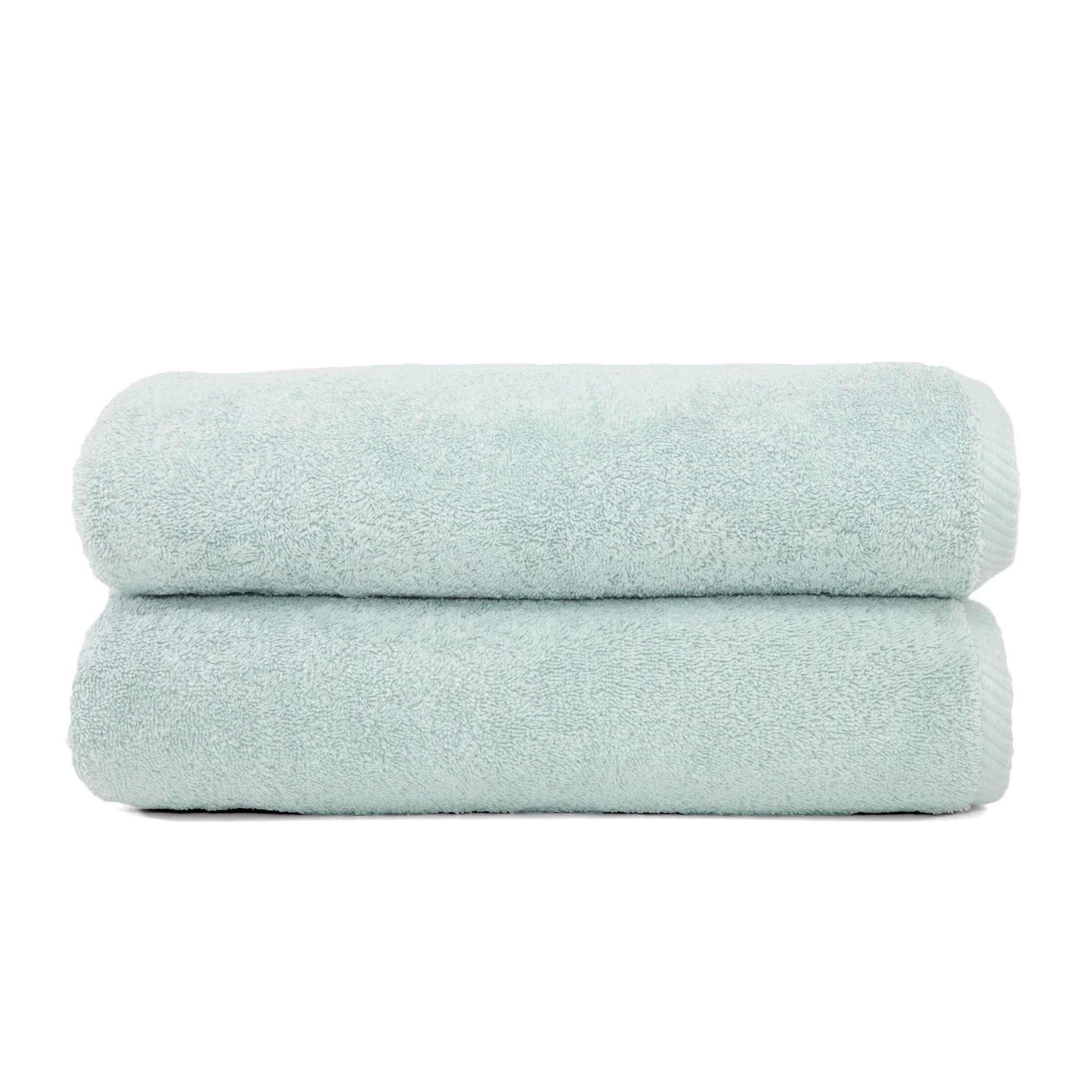 Sprimont 100% Turkish Cotton Soft Twist Bath Towel Color: Soft Aqua