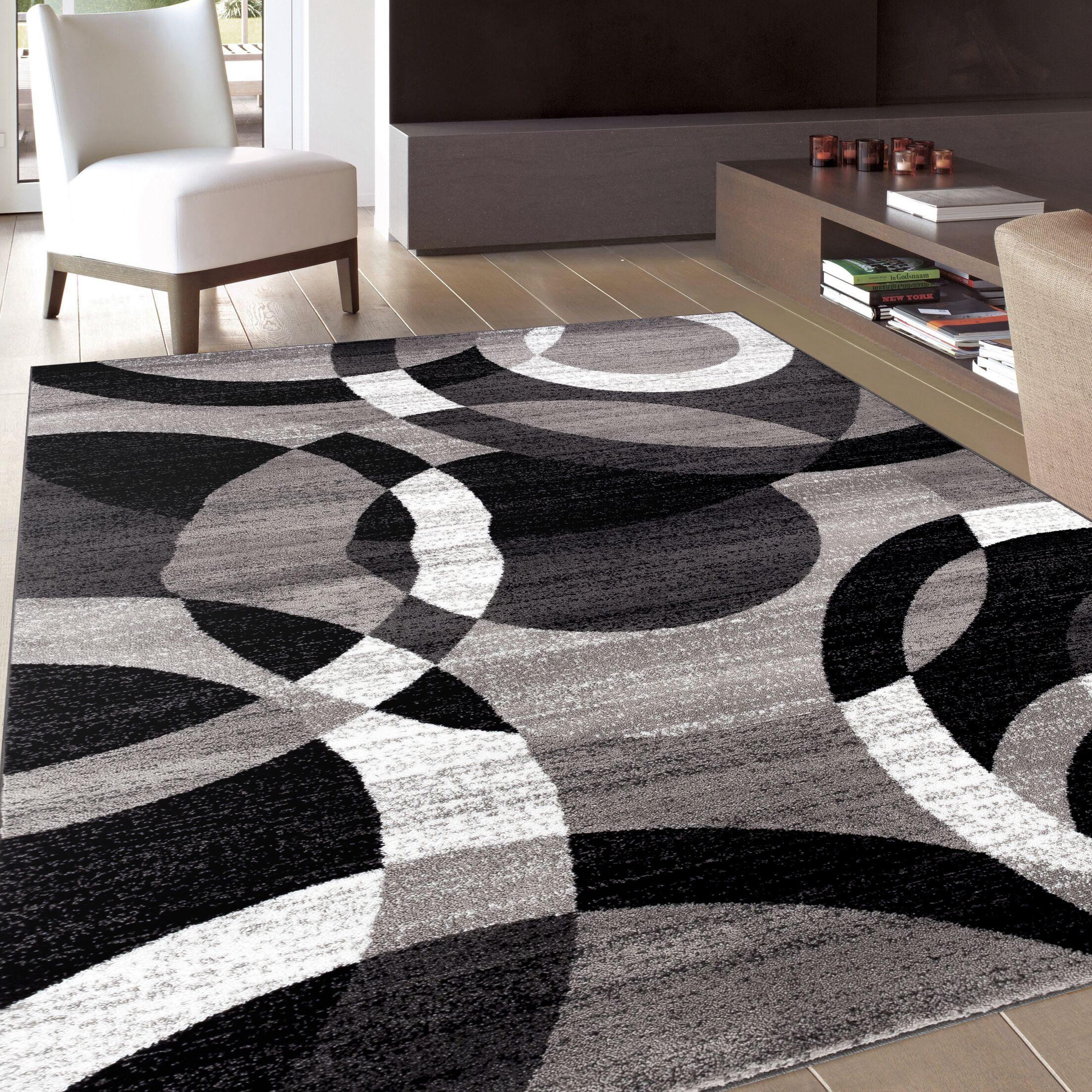 Allison Gray Area Rug Rug Size: Rectangle 7'10