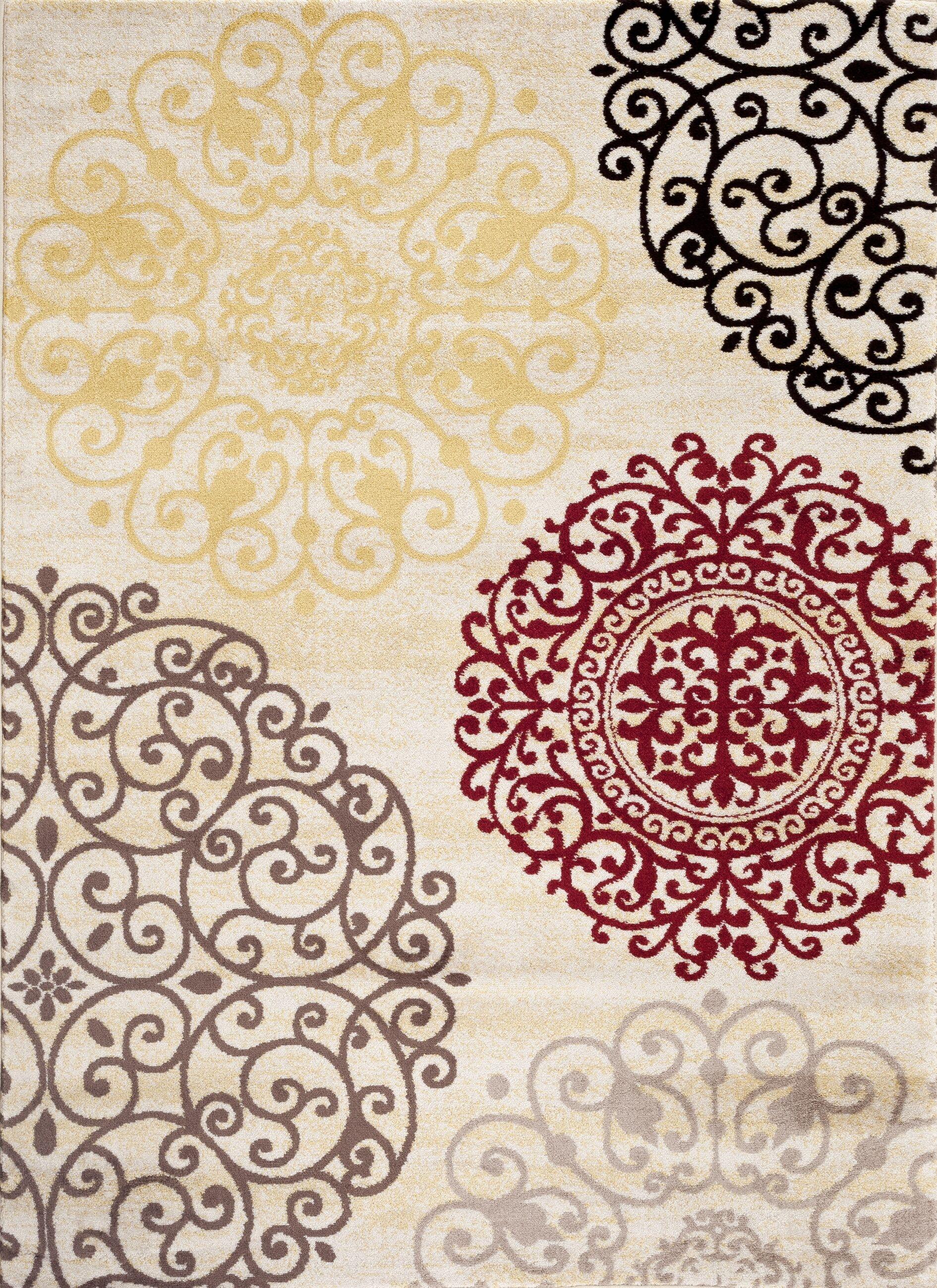 Ingaret Cream Area Rug Rug Size: Rectangle 7'10