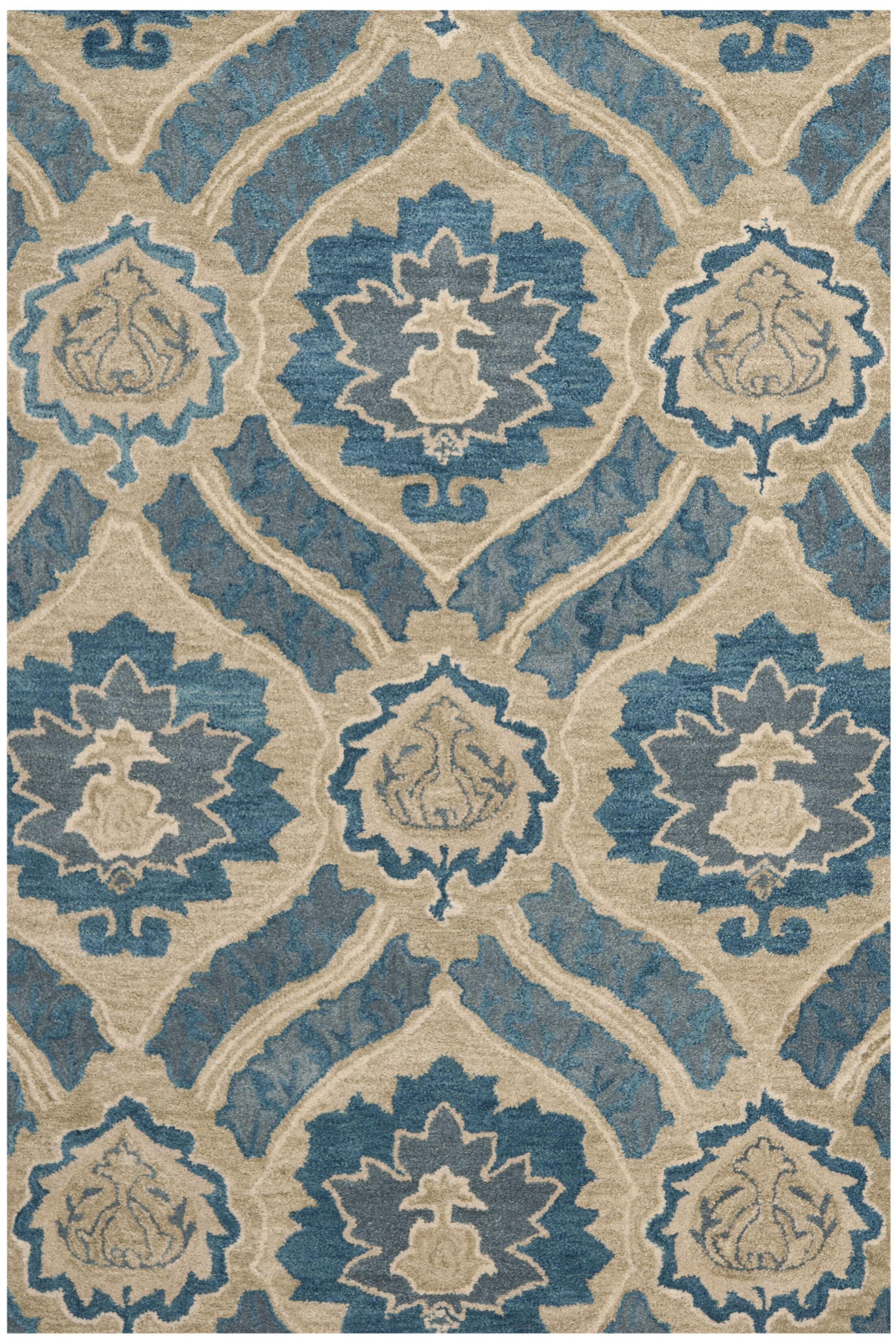 Matthews Blue/Ivory Area Rug Rug Size: Rectangle 10' x 14'