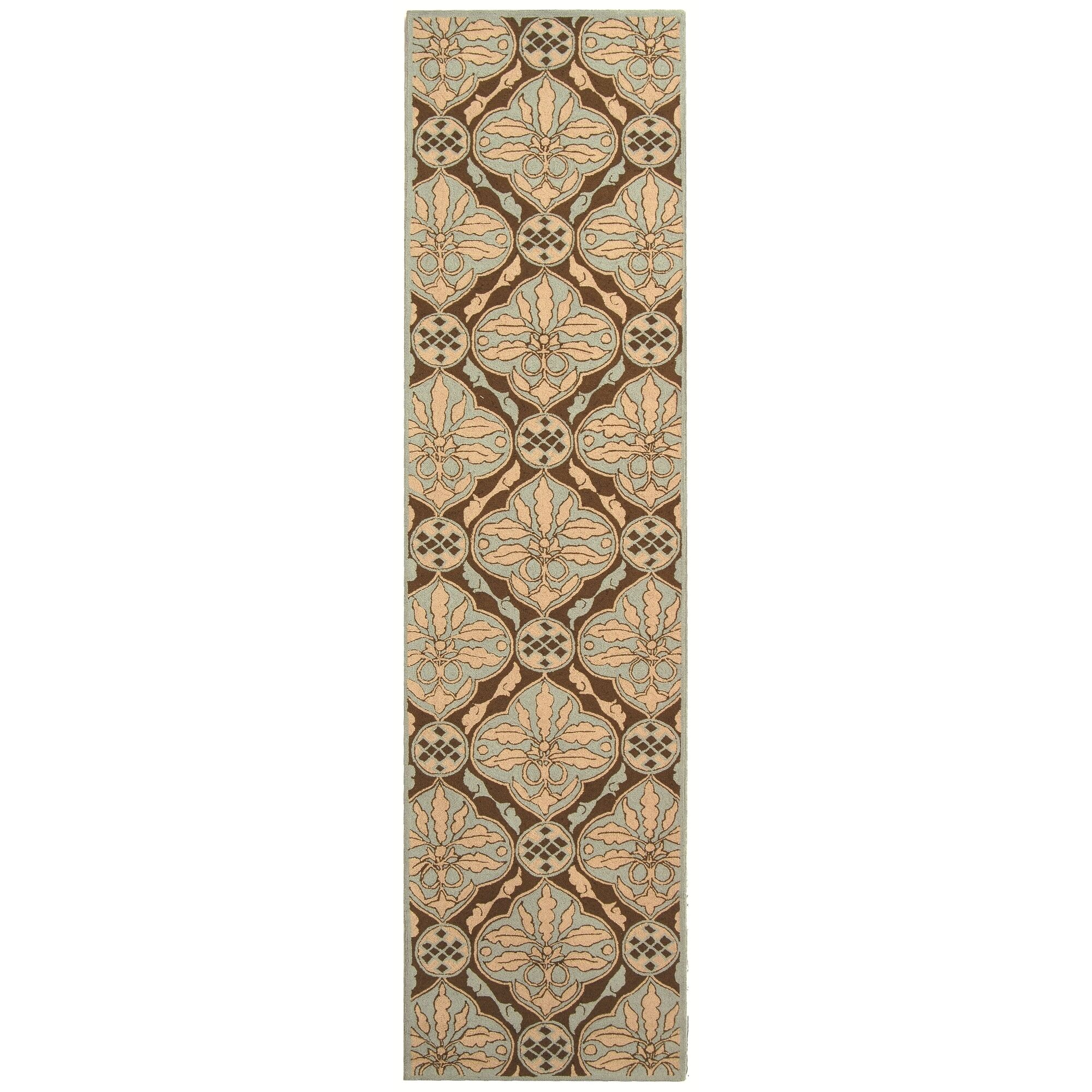 Martin Brown / Blue Area Rug Rug Size: Runner 2'6