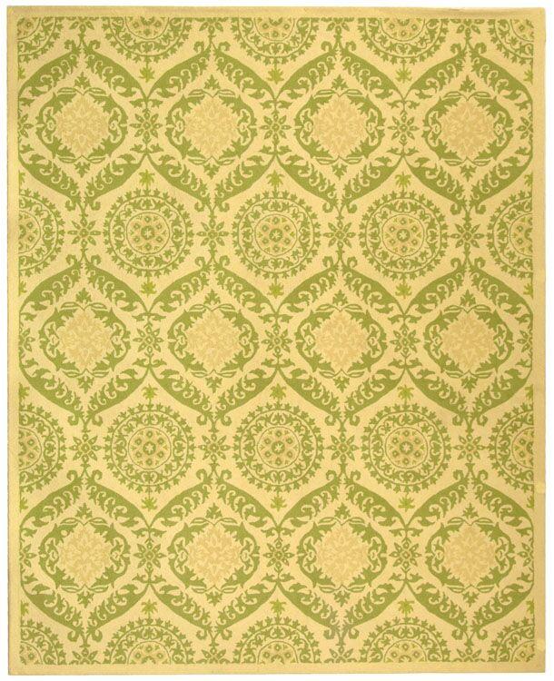 Nesbitt Beige/Green Rug Rug Size: Rectangle 7'9