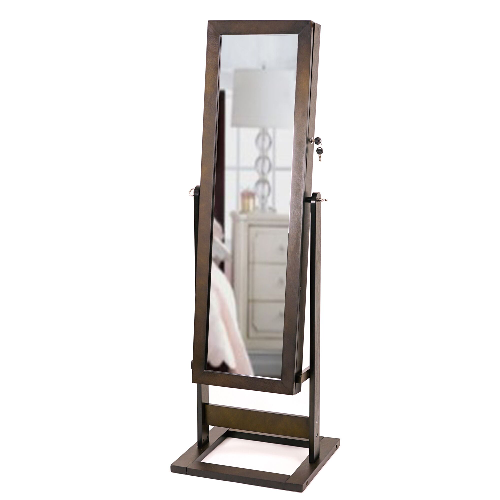 Whitney Free Standing Jewelry Armoire with Mirror