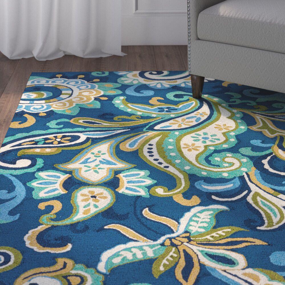 Breann Blue Indoor/Outdoor Area Rug Rug Size: Rectangle 9' x 12'
