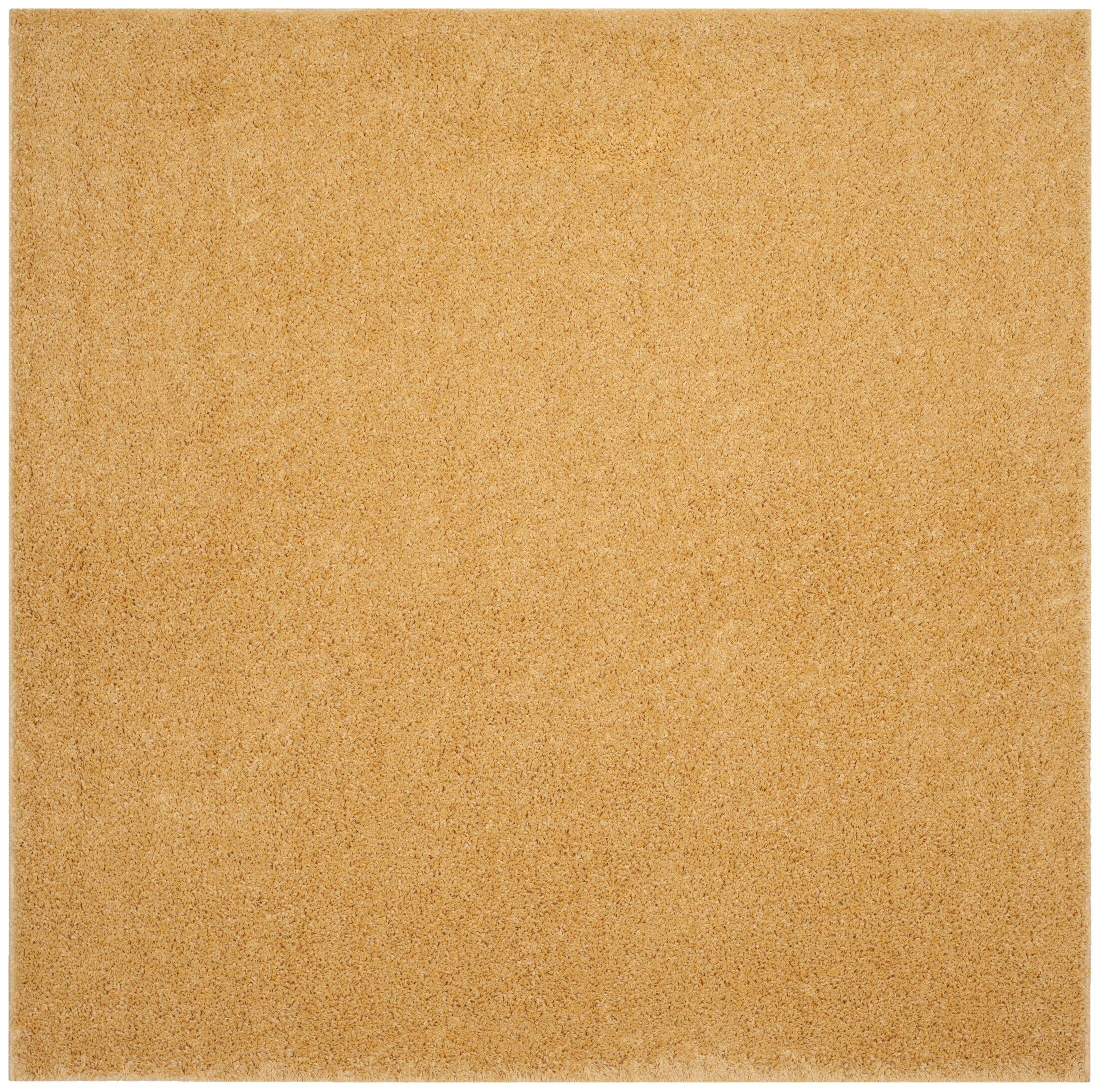 Curran Shag Gold Area Rug Rug Size: Square 6'7