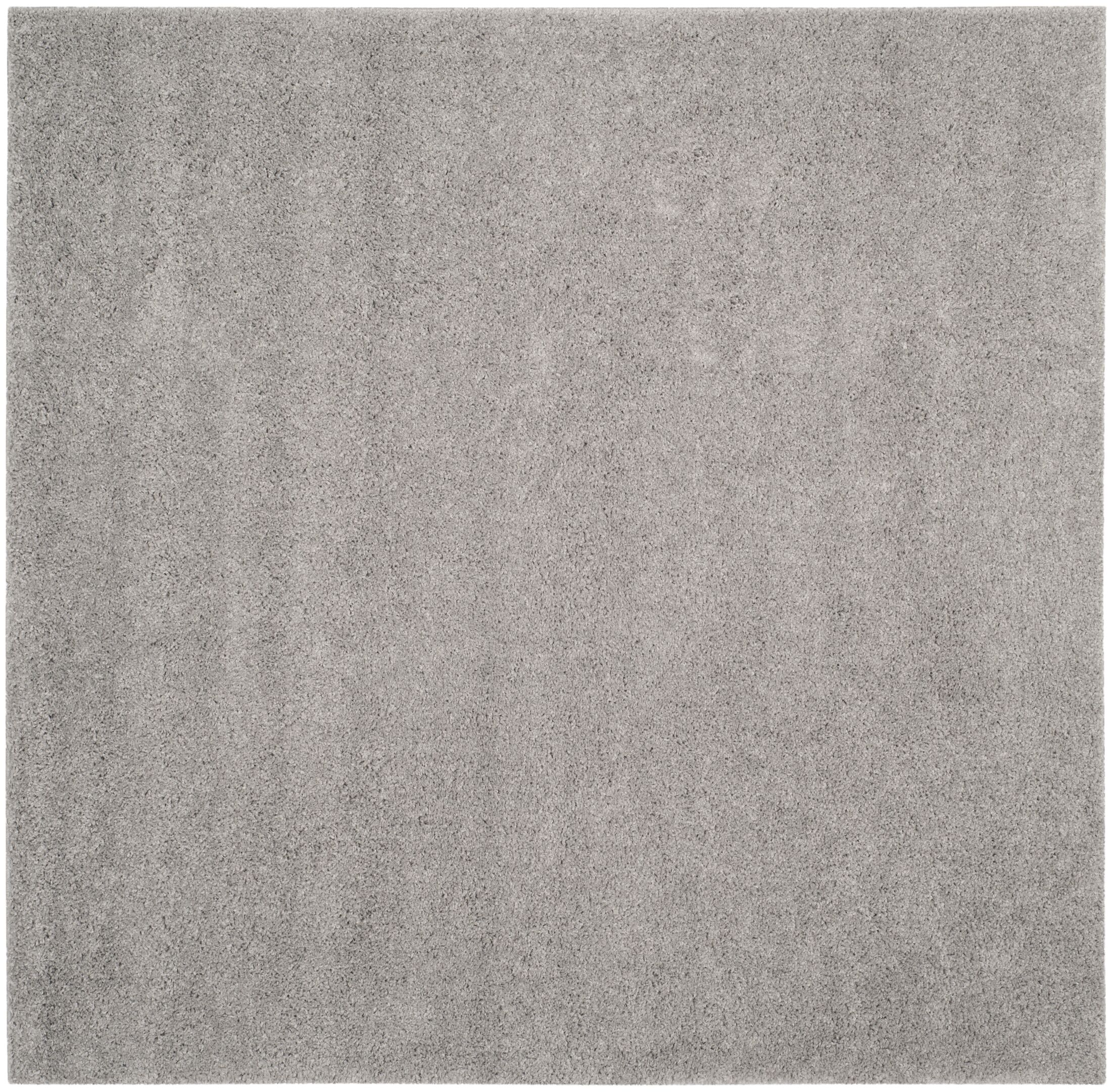 Curran Shag Light Gray Area Rug Rug Size: Square 6'7