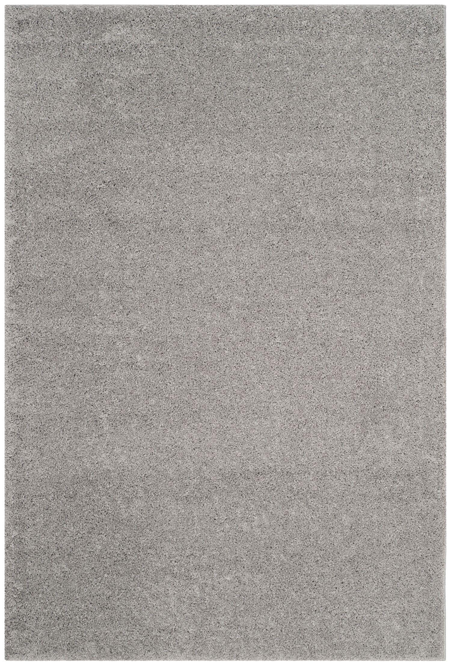 Curran Shag Light Gray Area Rug Rug Size: Rectangle 4' x 6'