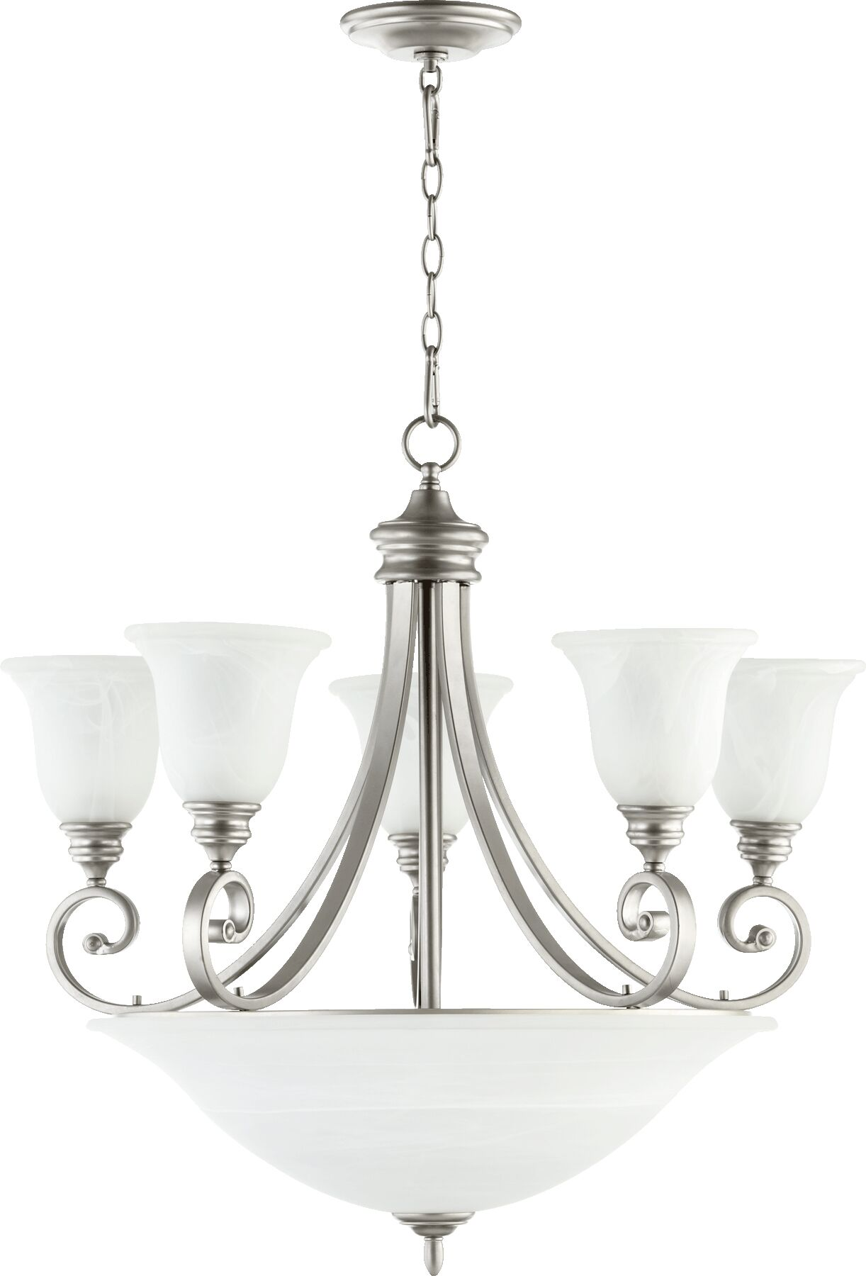 Asheville 9-Light Shaded Chandelier Finish: Classic Nickel