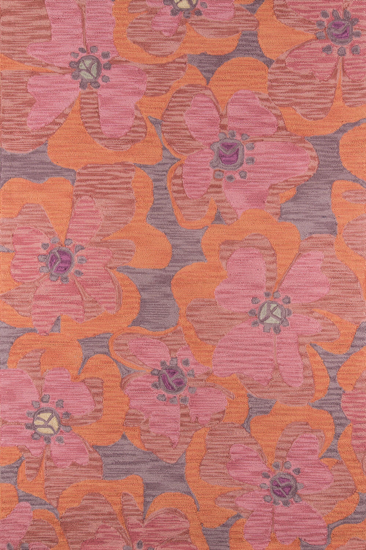 Unionville Hand-Woven Raspberry Area Rug Rug Size: Rectangle 5' x 7'6