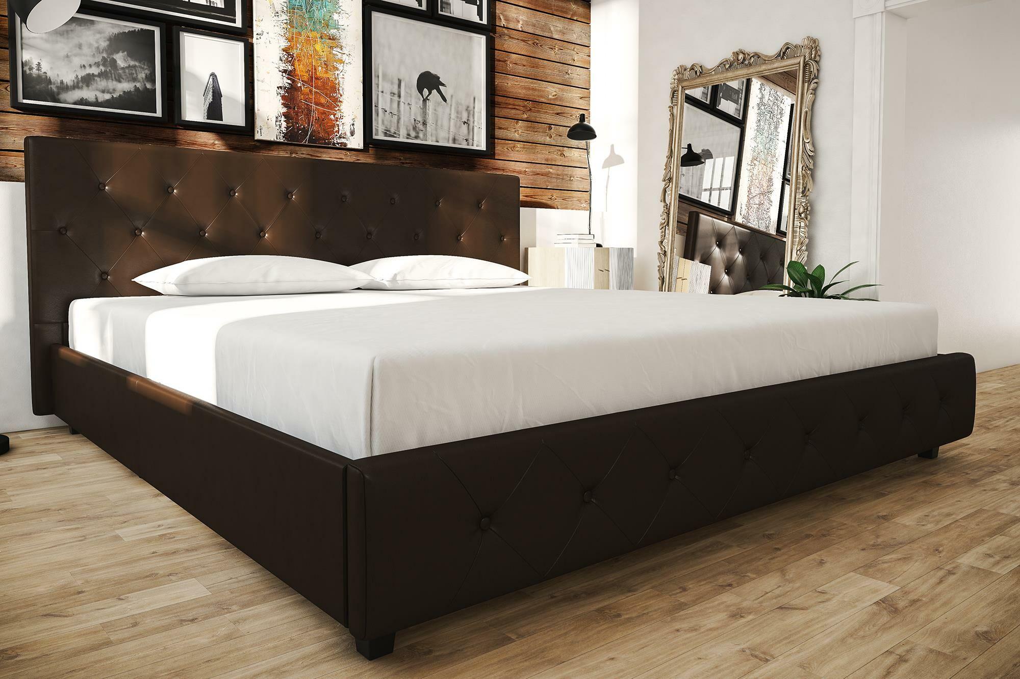 Salina Upholstered Platform Bed Size: Twin, Color: White