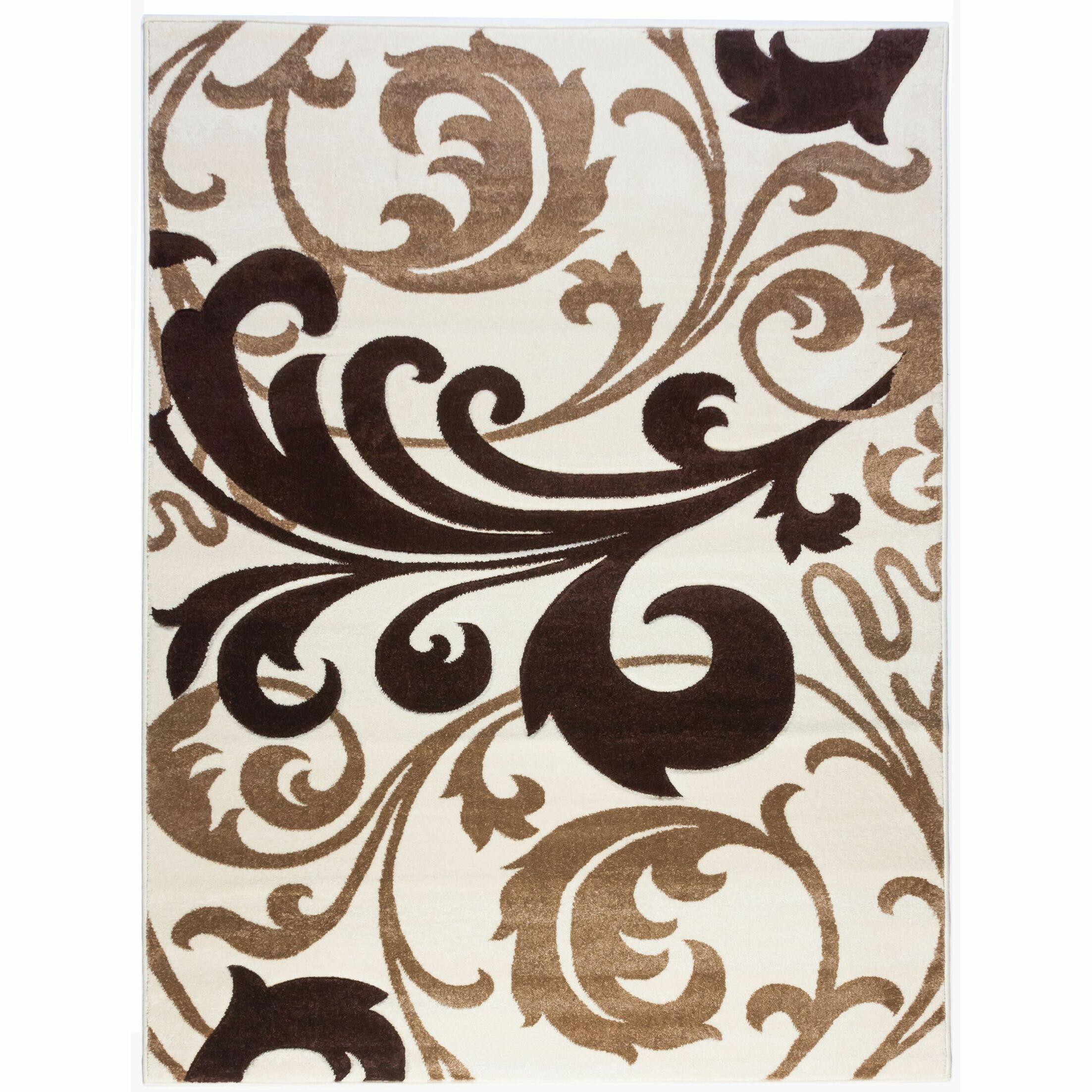 Everson Fleur De Lis Ivory Area Rug Rug Size: Rectangle 6'7