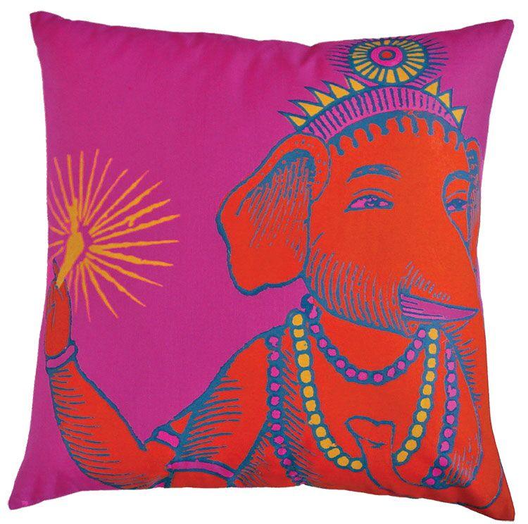 Bazaar Throw Pillow Color: Fuchsia