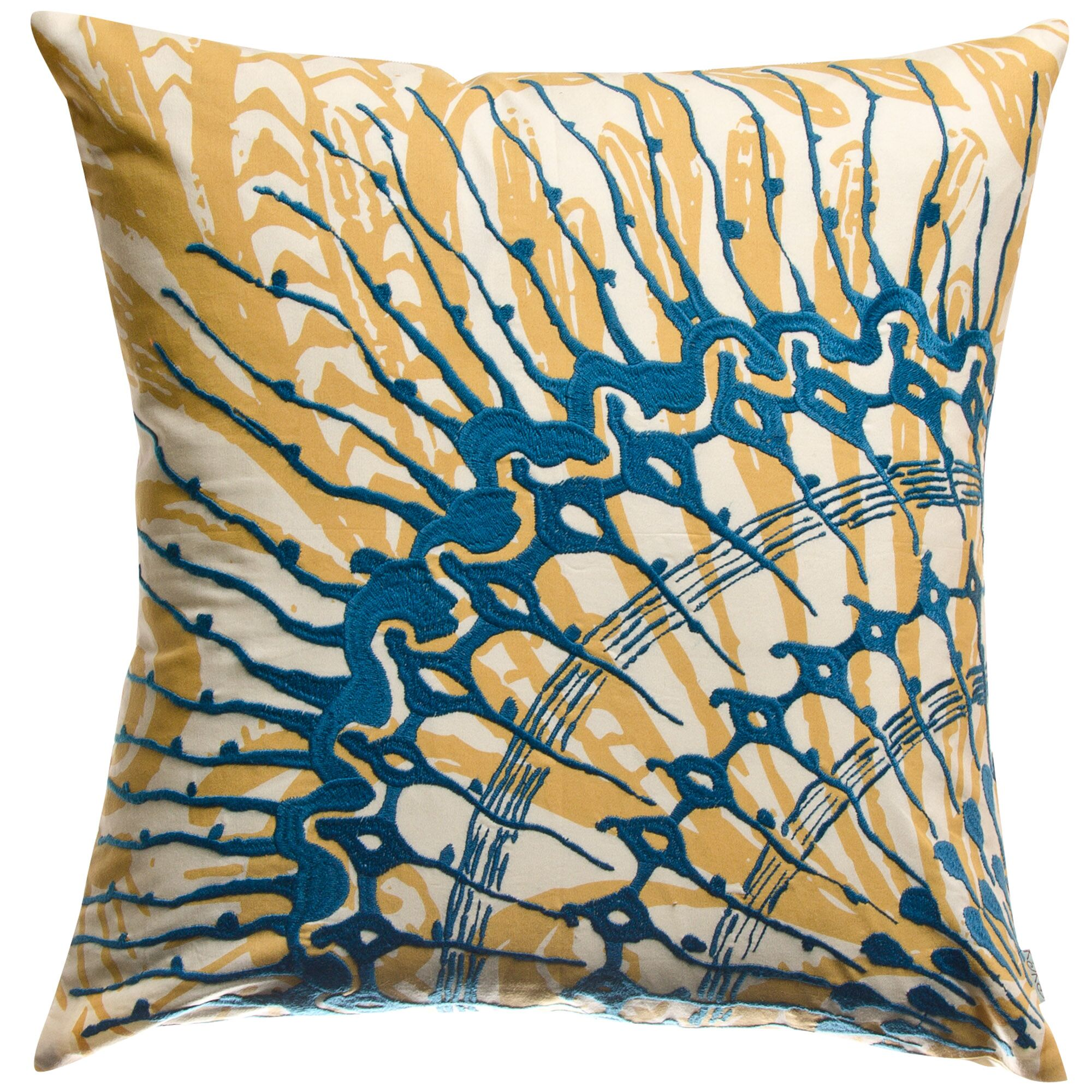 Water Cotton Throw Pillow