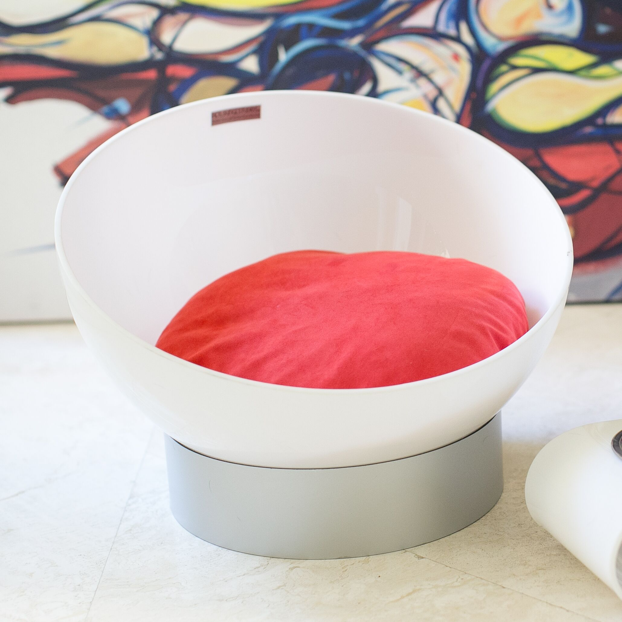 Acrylic Round Dog Bed Color: Tango Orange