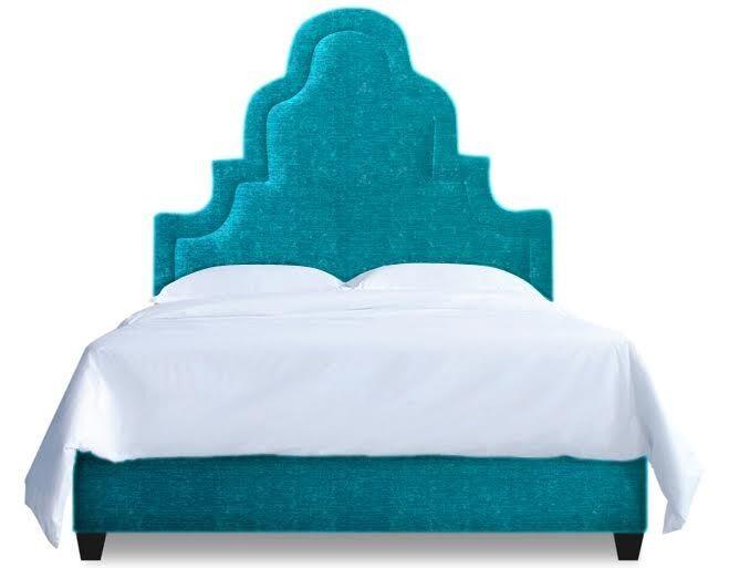 Meela Upholstered Platform Bed Size: Queen, Color: Peacock Blue