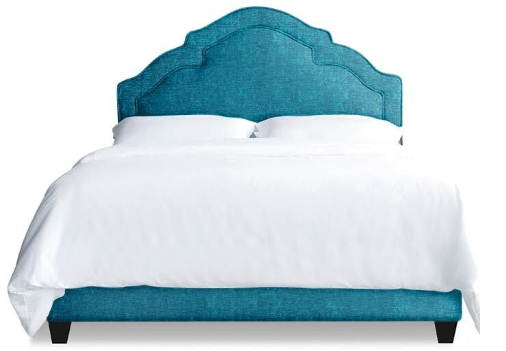 Sheila Upholstered Platform Bed Size: Queen, Color: Peacock Blue