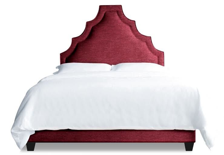 Lexi Upholstered Platform Bed Size: Queen, Color: Fuchsia