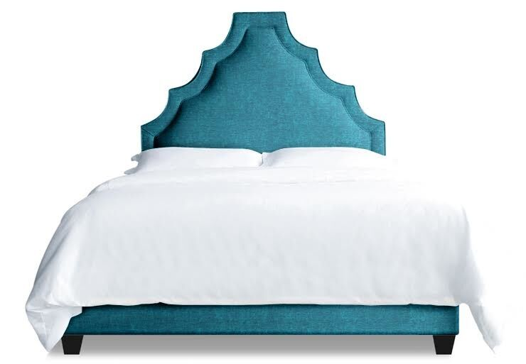 Lexi Upholstered Platform Bed Size: California King, Color: Peacock Blue