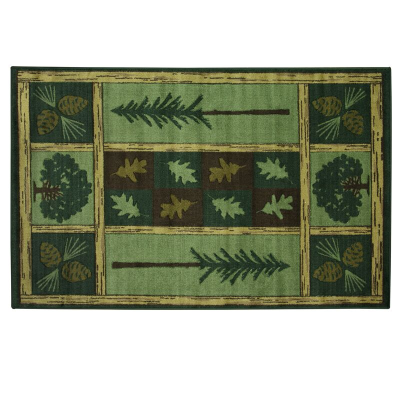Montross Woodland Escape Green Area Rug Rug Size: Rectangle 5'3