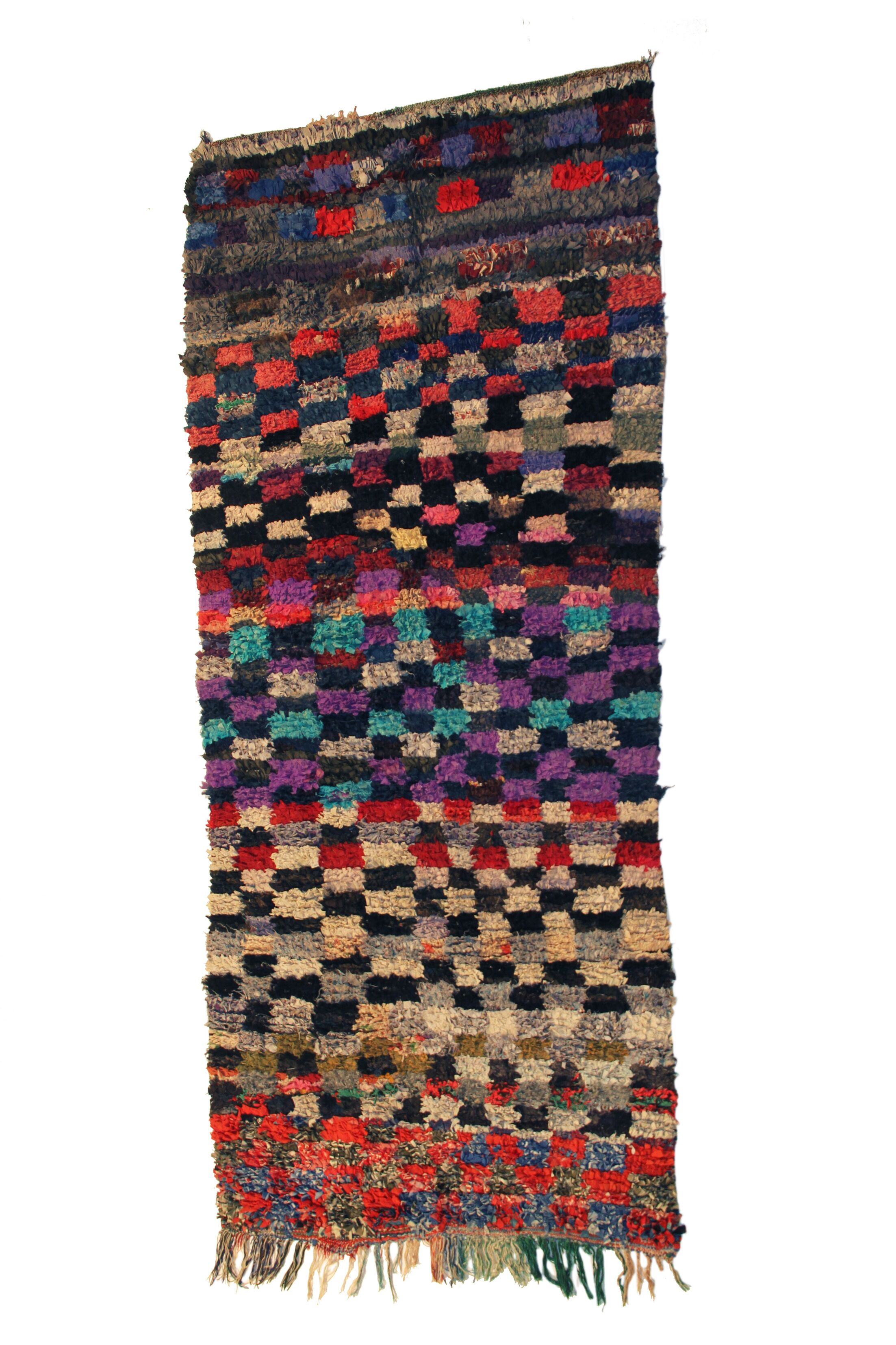 Boucherouite Azilal Hand-Woven Black/Ivory Area Rug