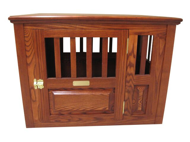 Dixie Handmade Furniture-Style Pet Crate Size: Small (23