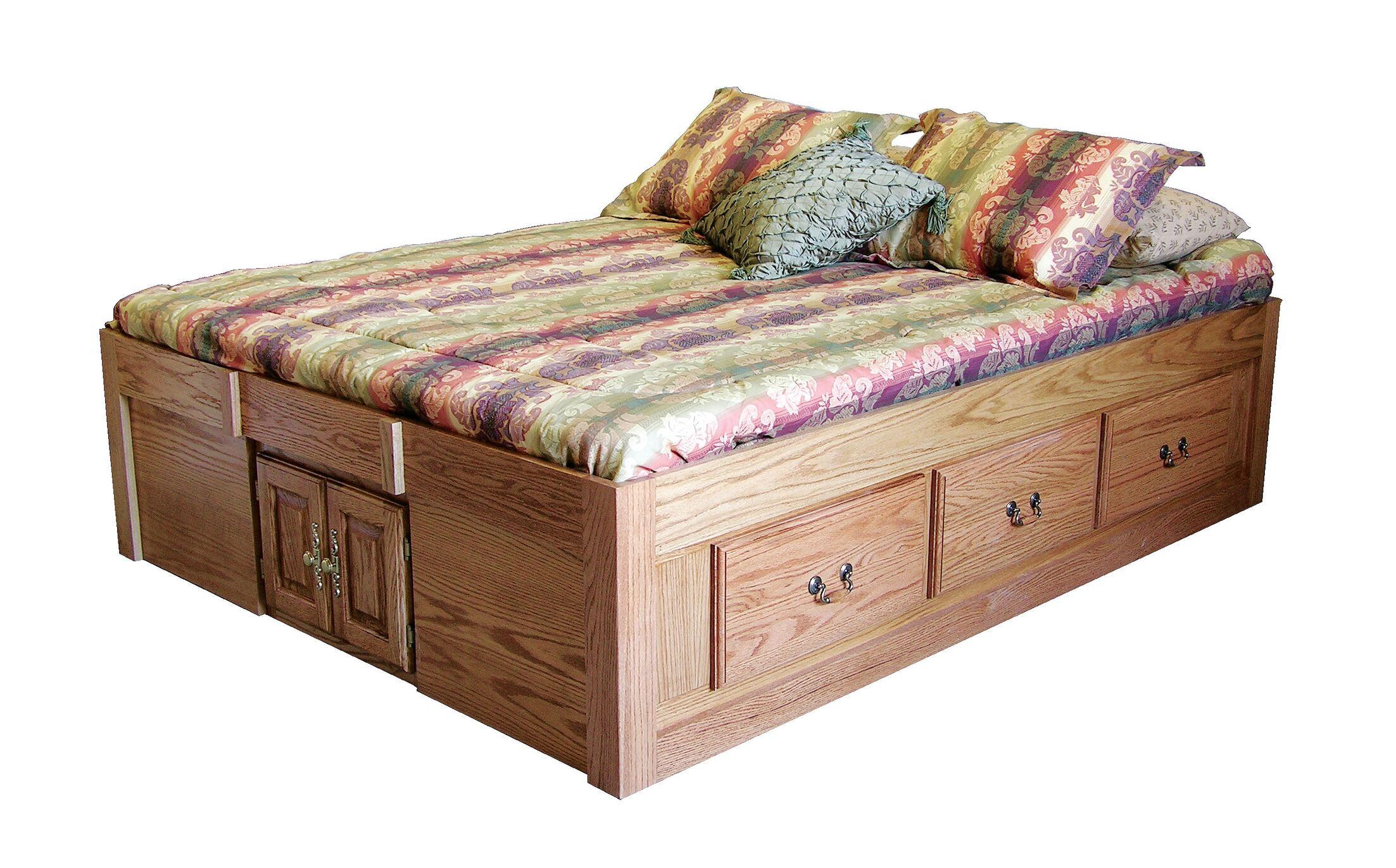 Kuhn Queen Storage Platform Bed Color: Honey Oak
