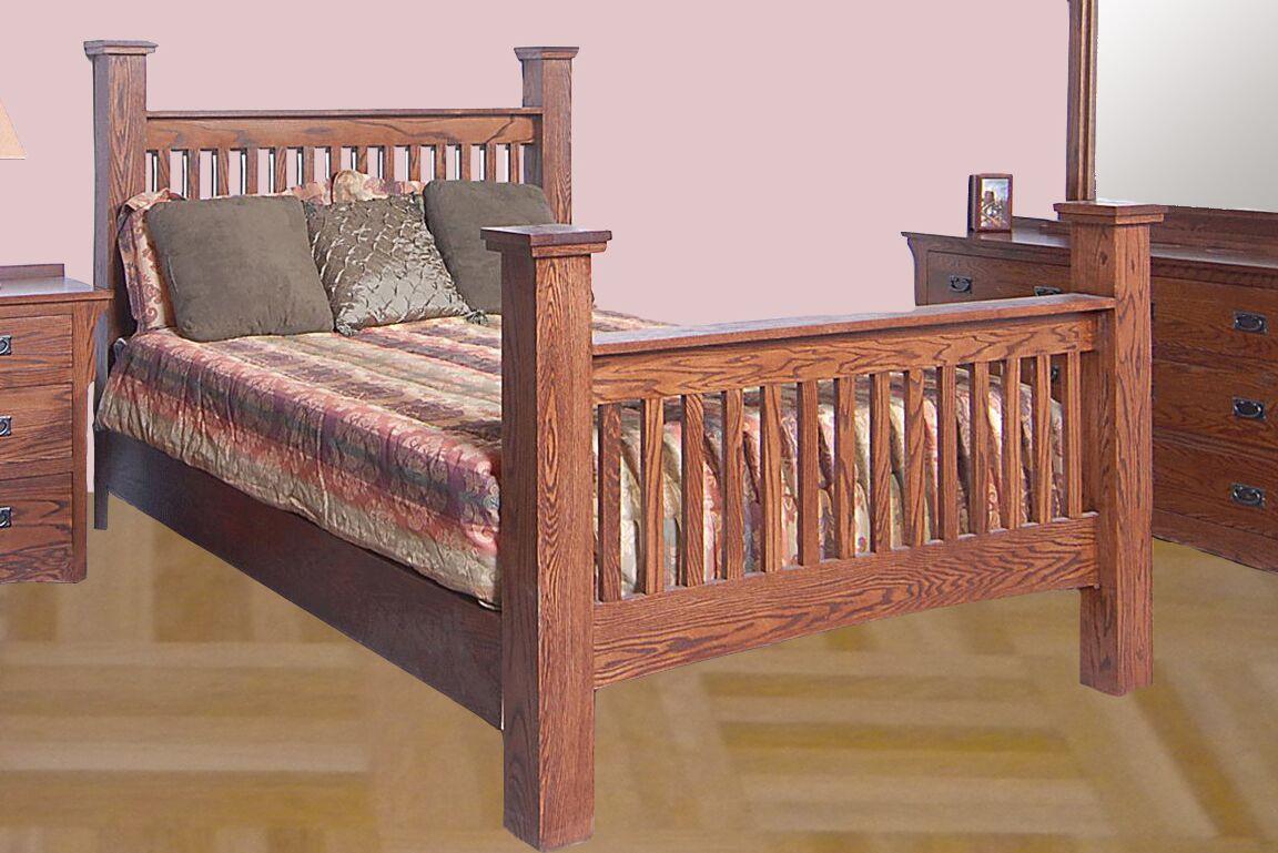 Aske Queen Panel Bed Color: Honey Oak