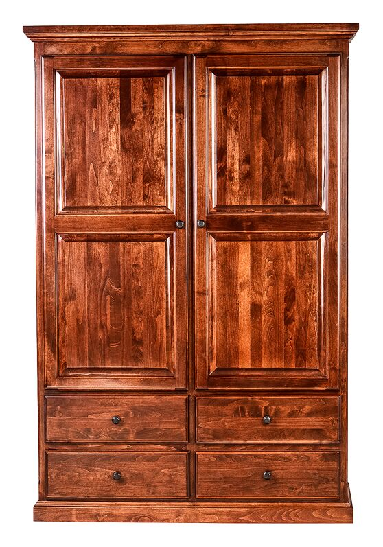 Hoskins Armoire Finish: Red Oak
