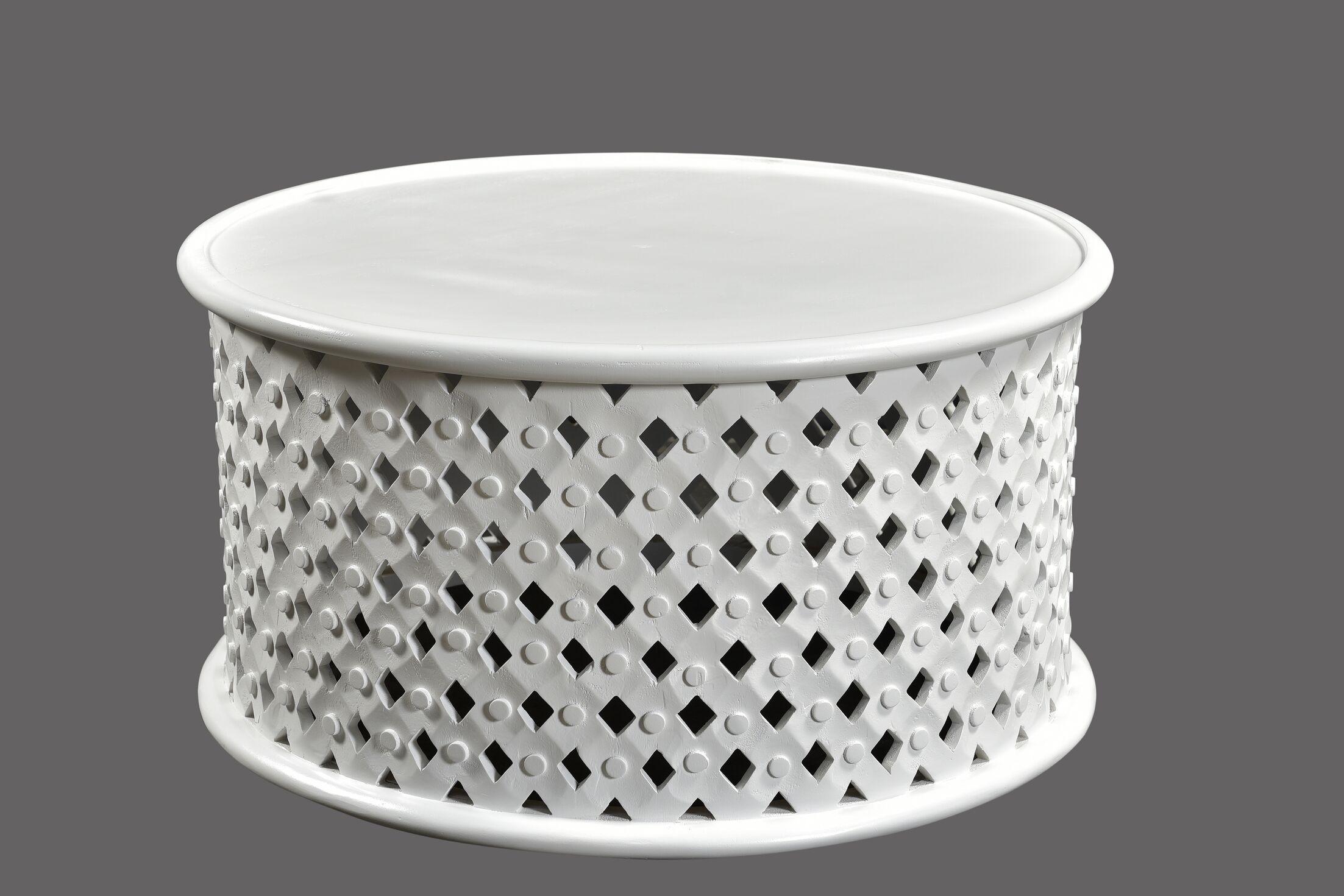 Kourtney Coffee Table Color: White