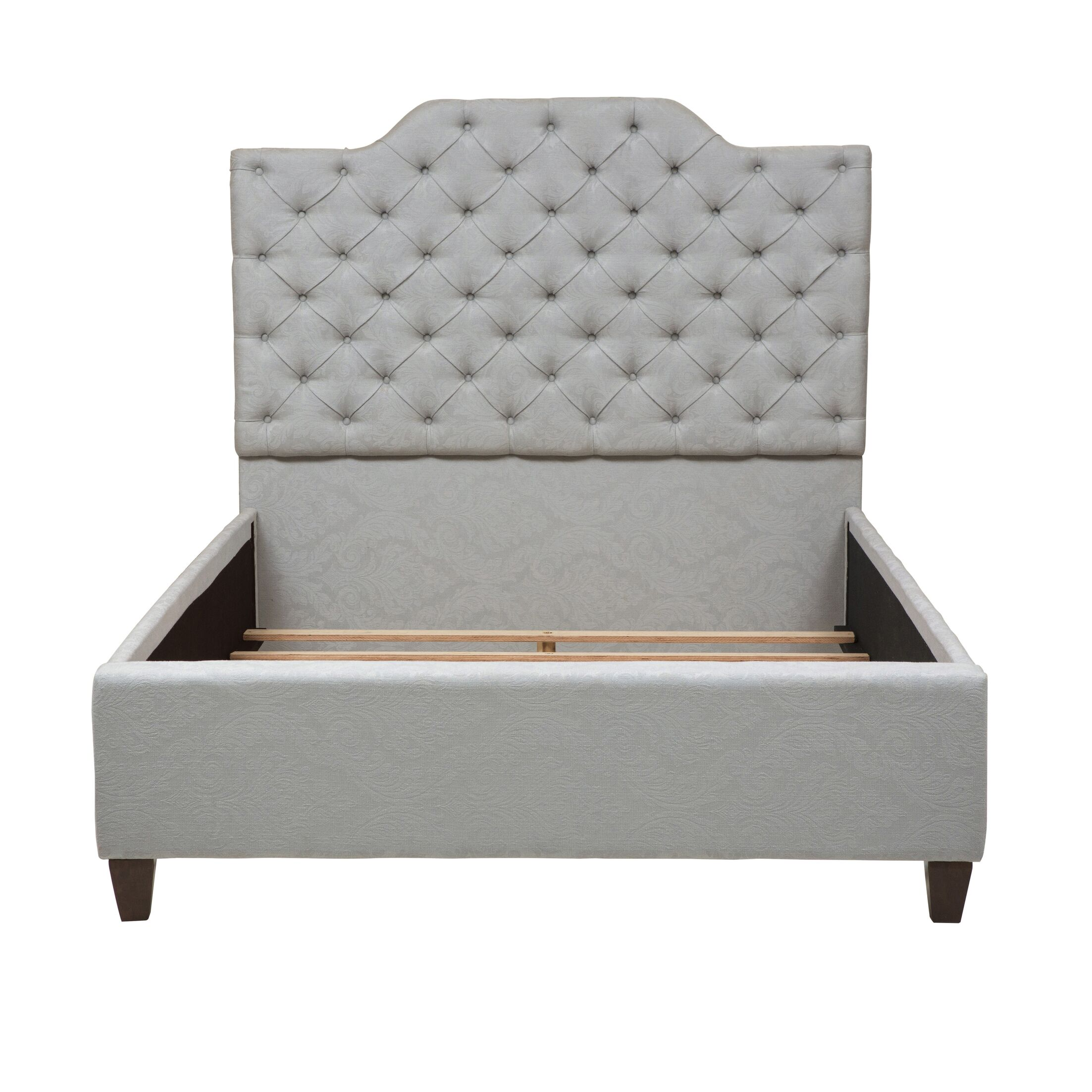 Jerrie Button Tufted Upholstered Panel Bed Size: King