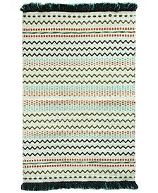 Razzel Cotton Green/Blue Area Rug Rug Size: Rectangle 2'3