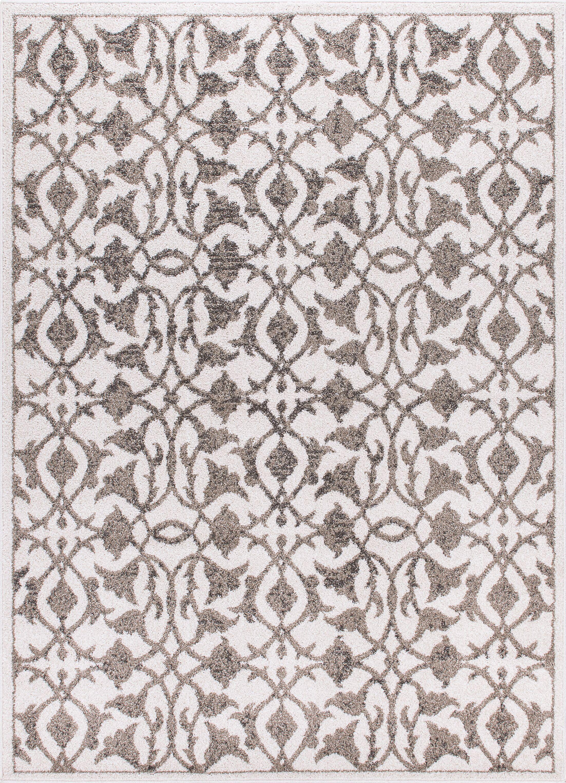 Jacksonwald Ivory/Gray Area Rug Rug Size: Rectangle 5'3