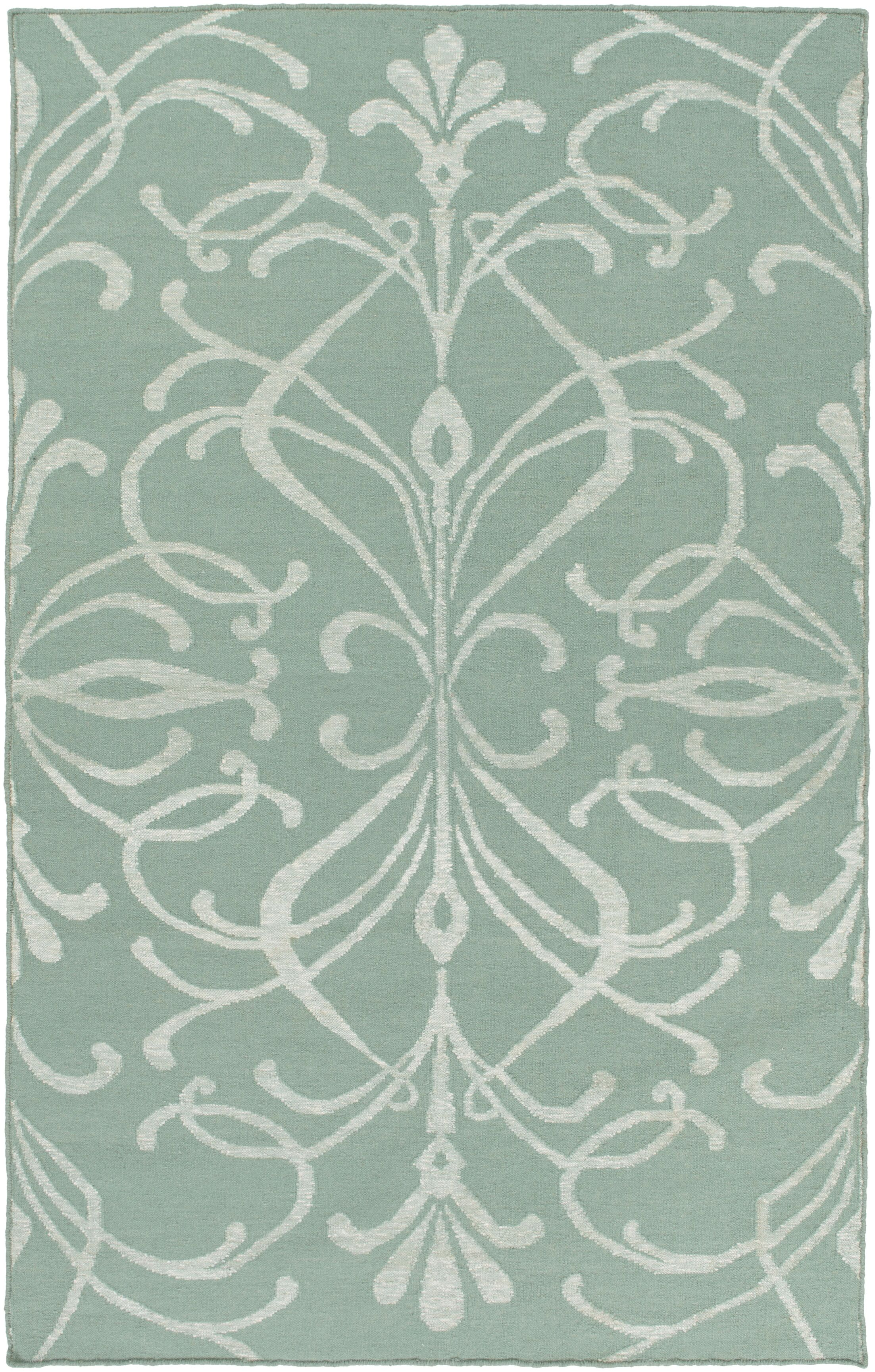 Delavan Hand Woven Green Area Rug Rug Size: Rectangle 6' x 9'