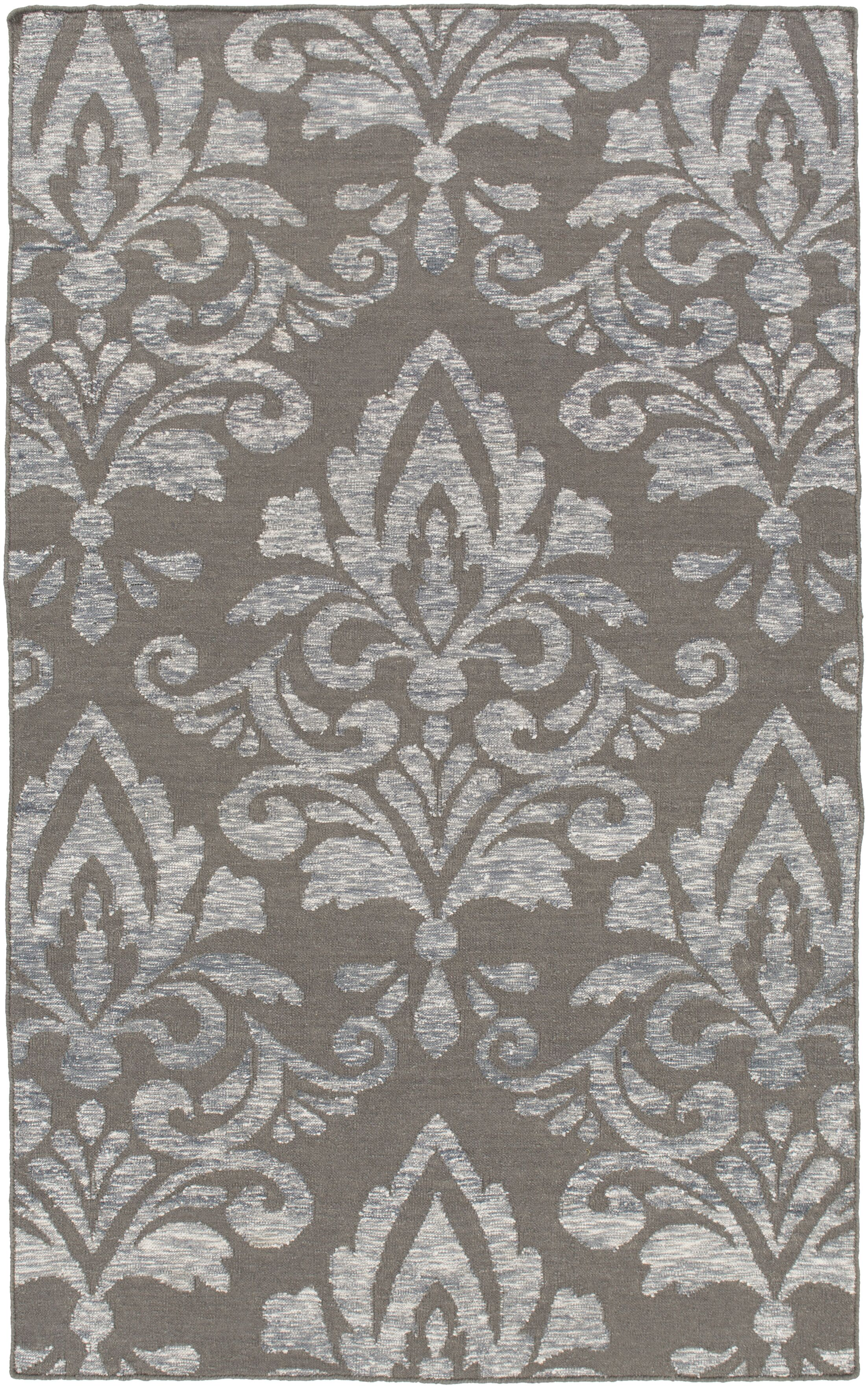 Delavan Hand Woven Ikat Gray Area Rug Rug Size: Rectangle 8' x 10'