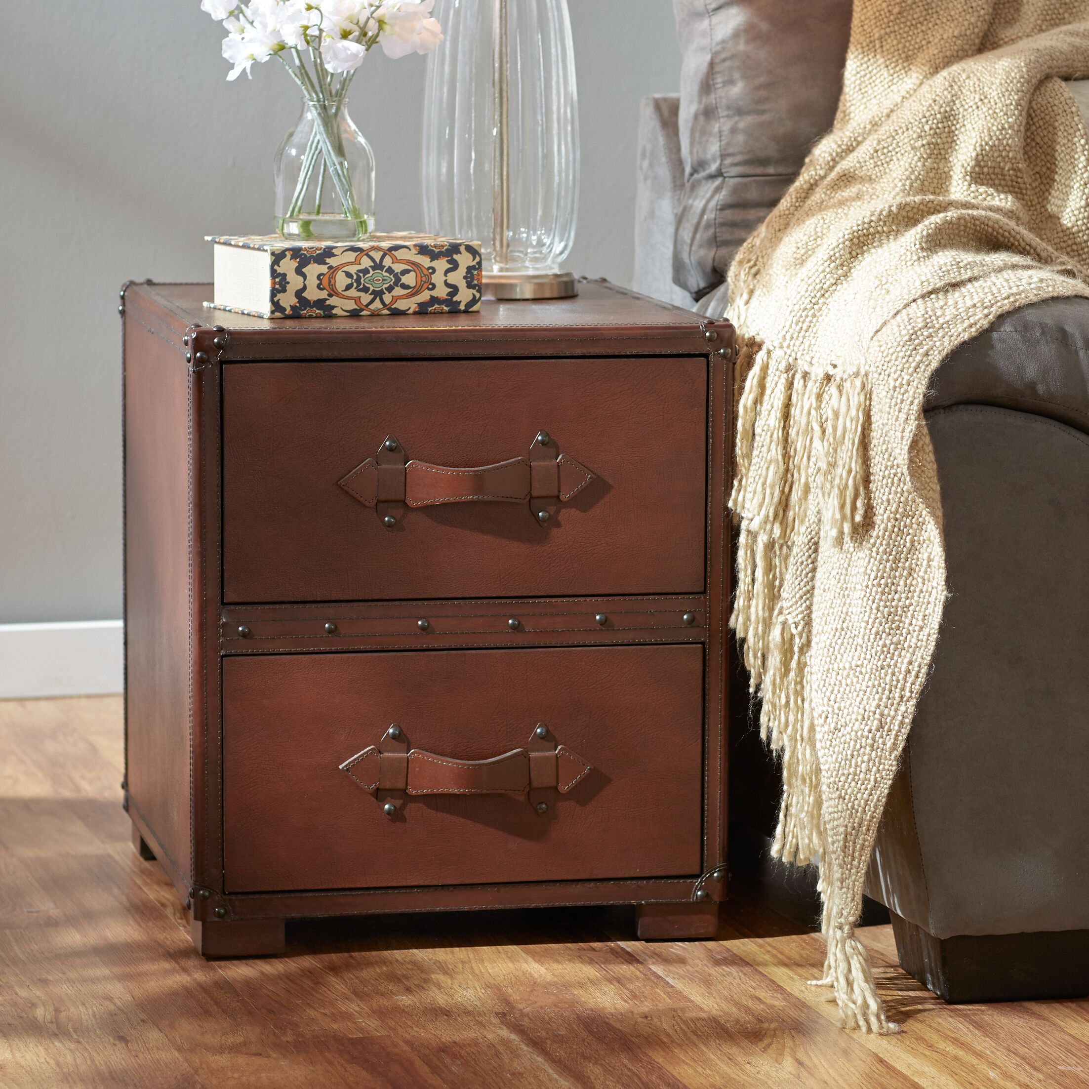 Jefferson 2 Drawer End Table