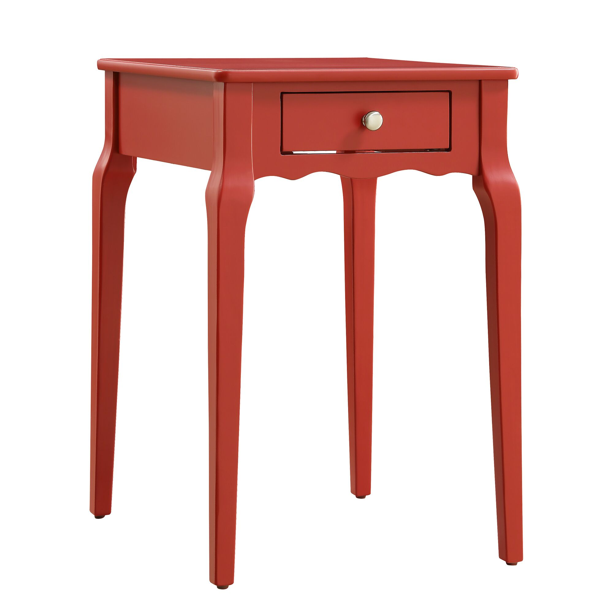 Pinckney End Table With Storage� Color: Samba Red