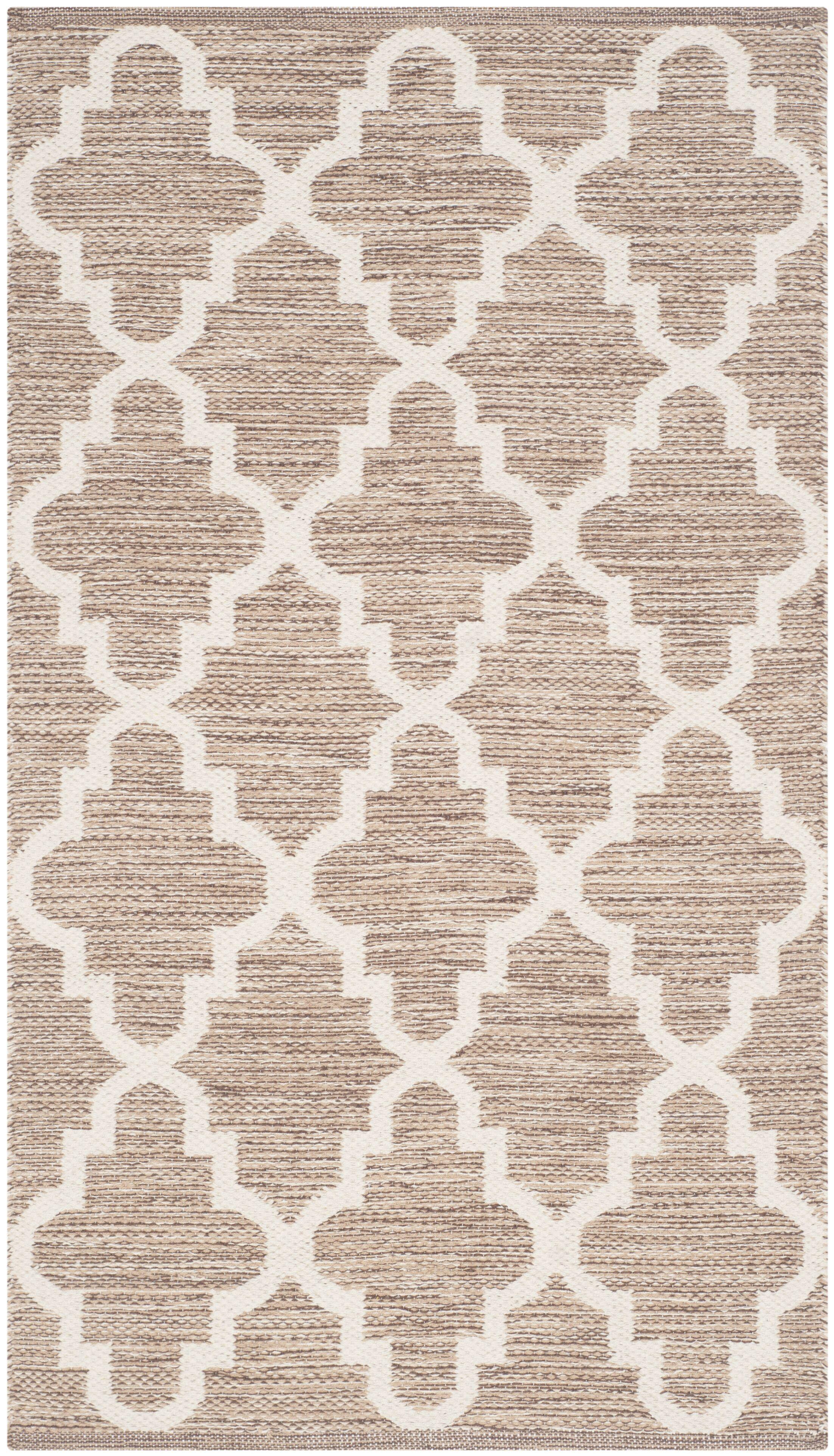 Eberhardt Hand-Woven Beige/Ivory Area Rug Rug Size: Rectangle 9' x 12'