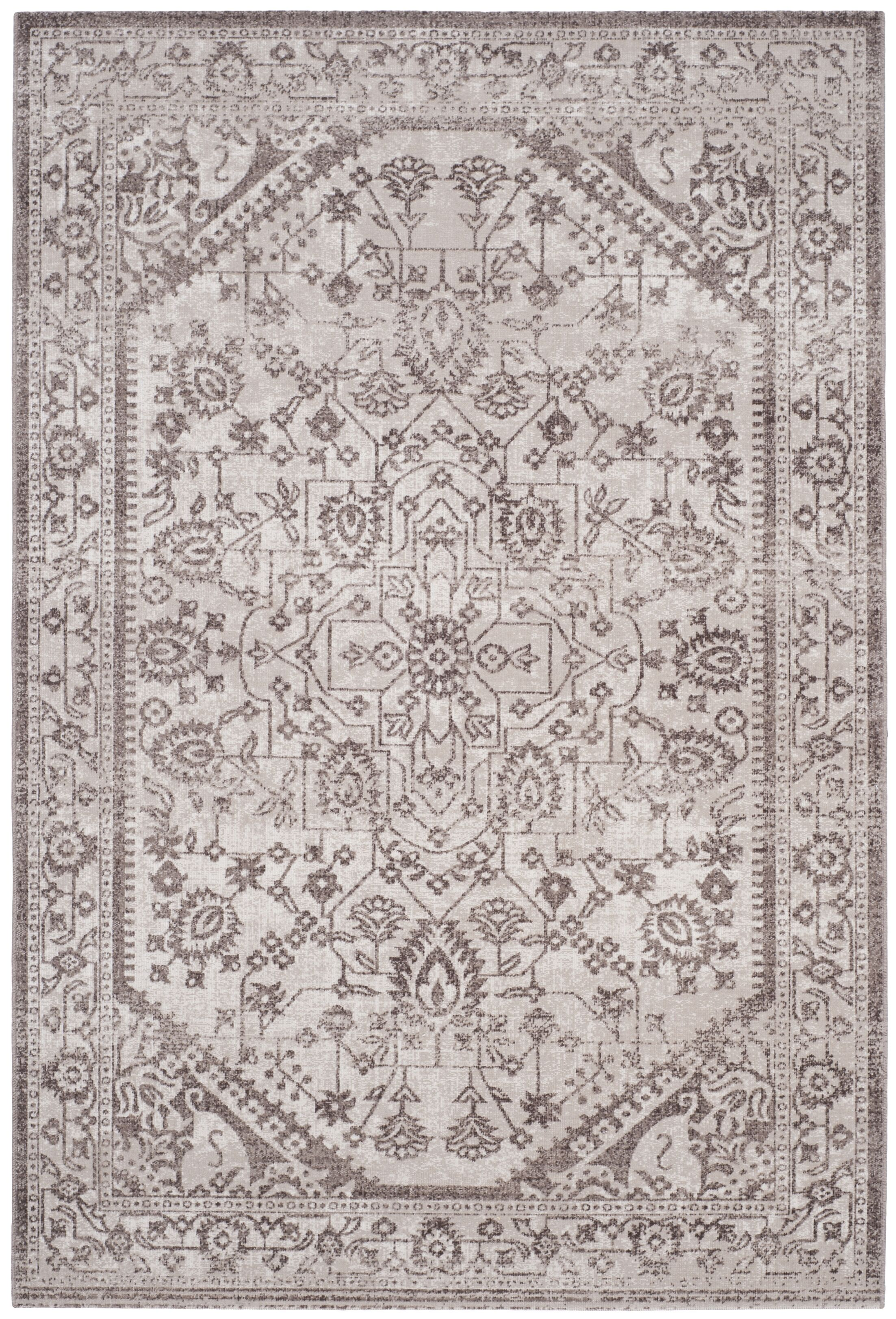 Bloomfield Beige/Brown Area Rug Rug Size: Rectangle 4' x 6'