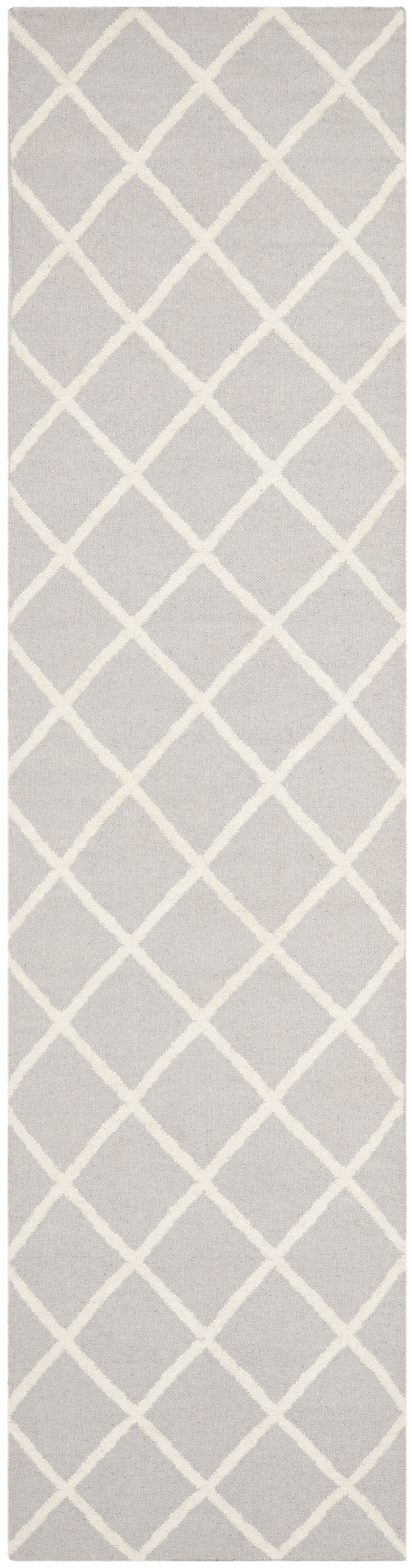 Danbury Hand-Woven Wool Gray/Ivory Area Rug Rug Size: Runner 2'6