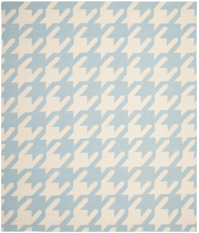 Mccall Light Blue / Ivory Area Rug Rug Size: Rectangle 8' x 10'