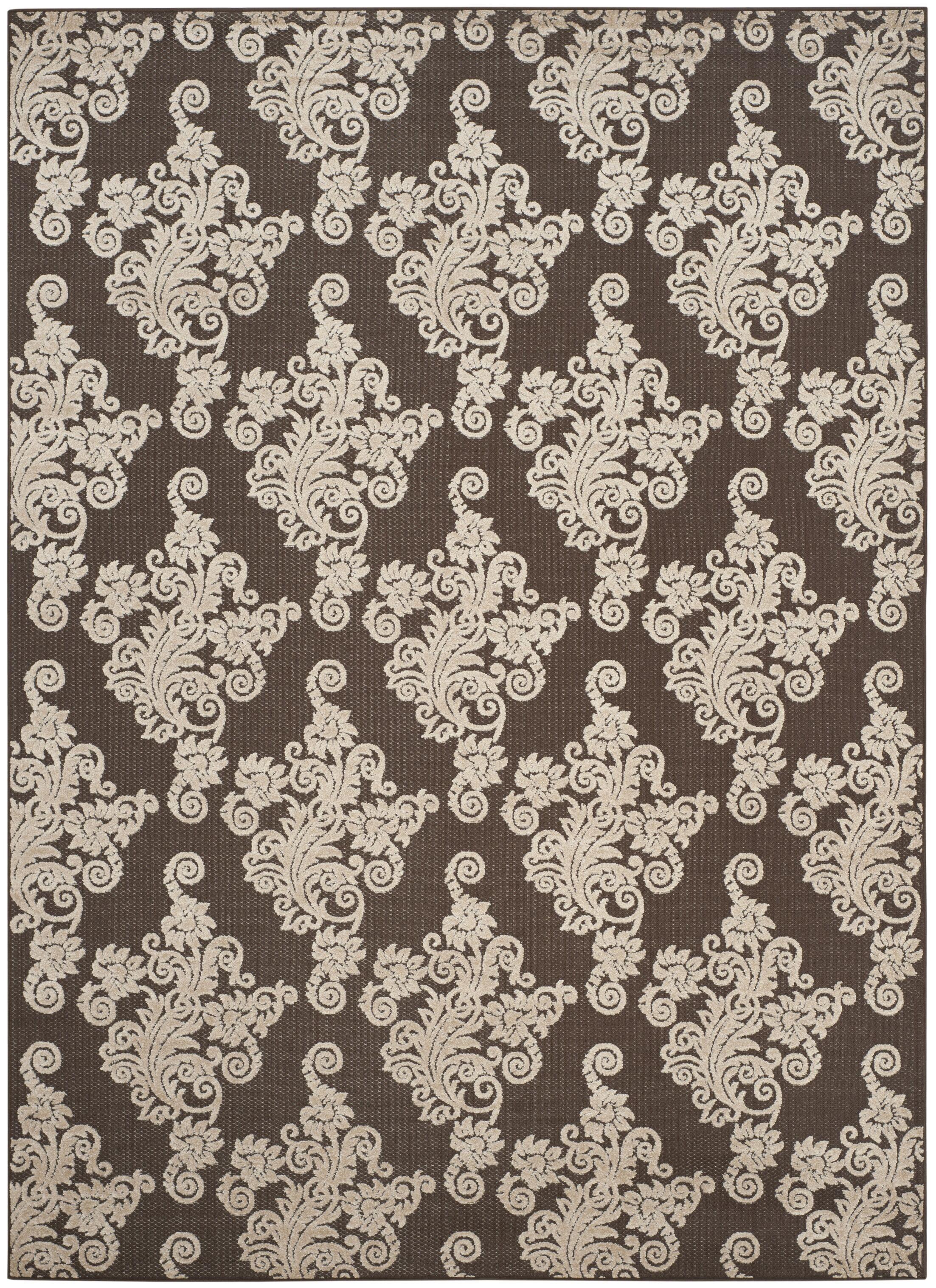 Donnellan Brown/Beige Indoor/Outdoor Area Rug Rug Size: Rectangle 8' x 11'2