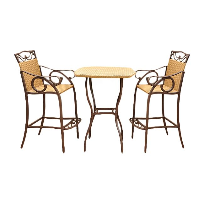 Meetinghouse 3 Piece Bar Height Dining Set